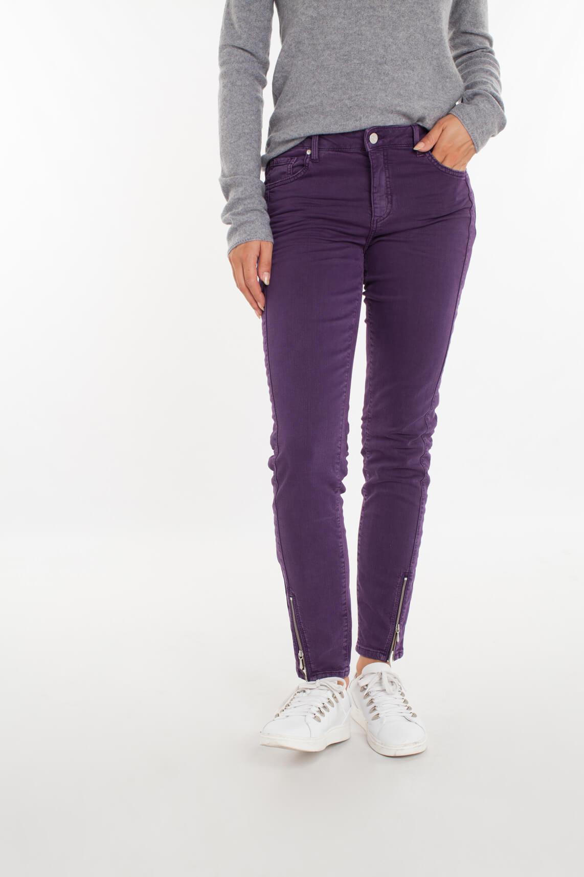 Rosner Dames Antonia jeans met ritsjes Paars