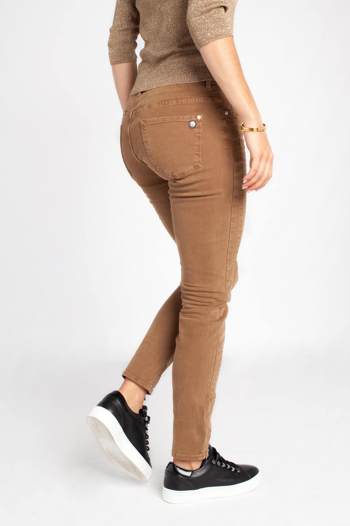 Rosner Dames Antonia jeans met ritsjes Bruin