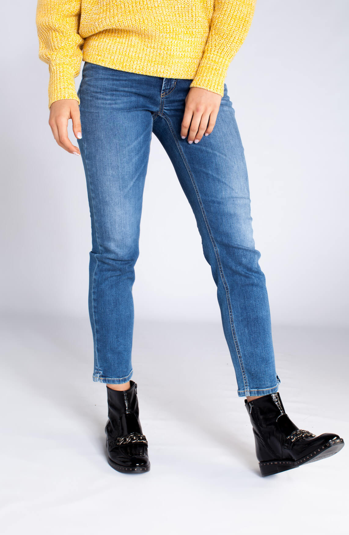Cambio Dames Piper 7/8 jeans Blauw