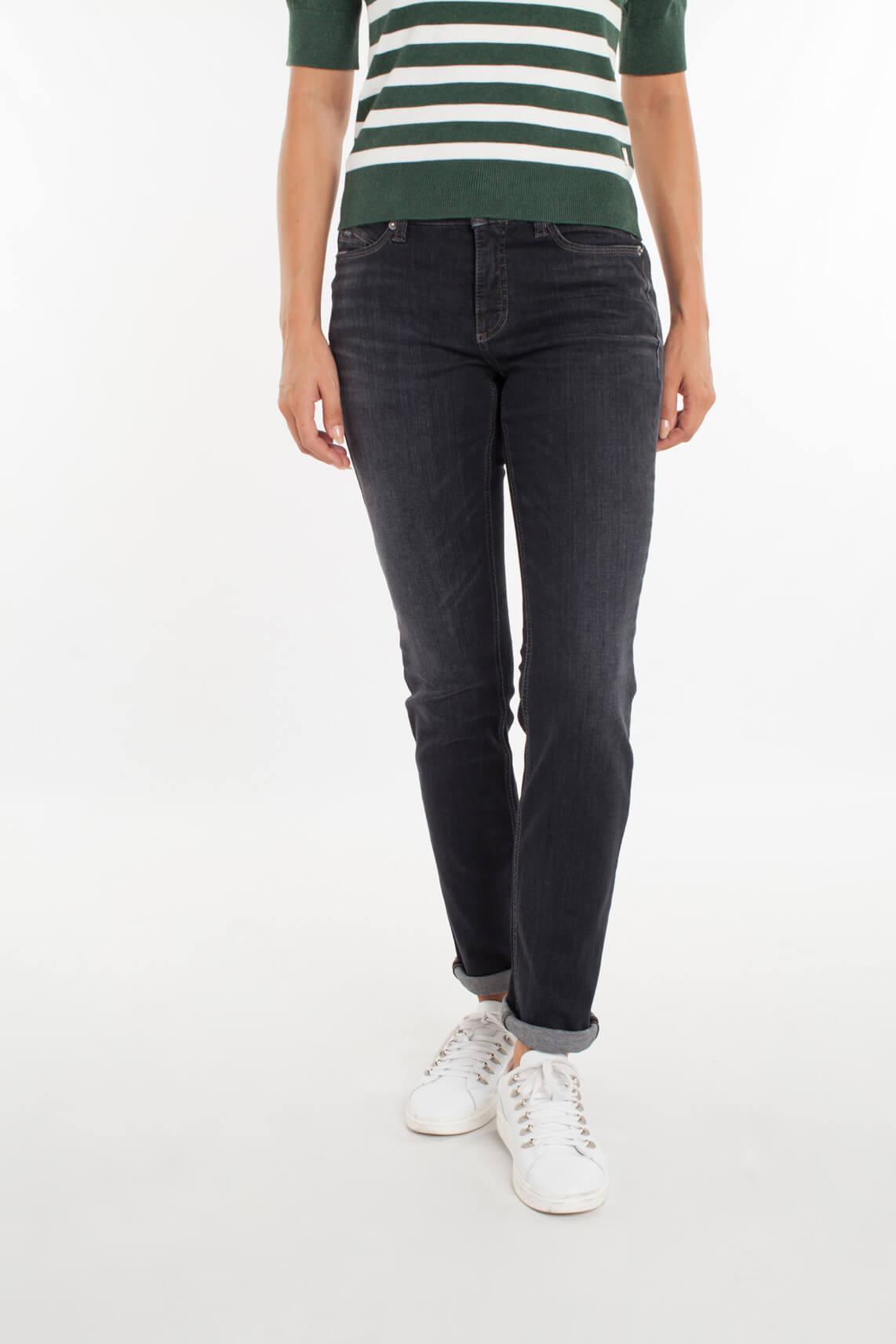 Cambio Dames Parla jeans met studs zwart