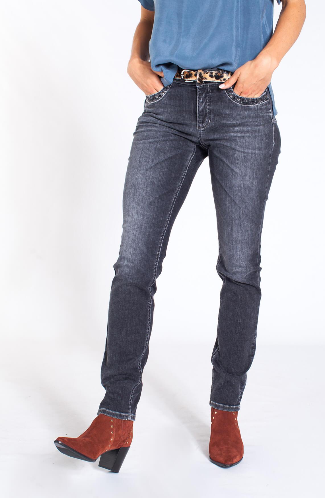 Cambio Dames Parlina jeans met Swarovski Grijs