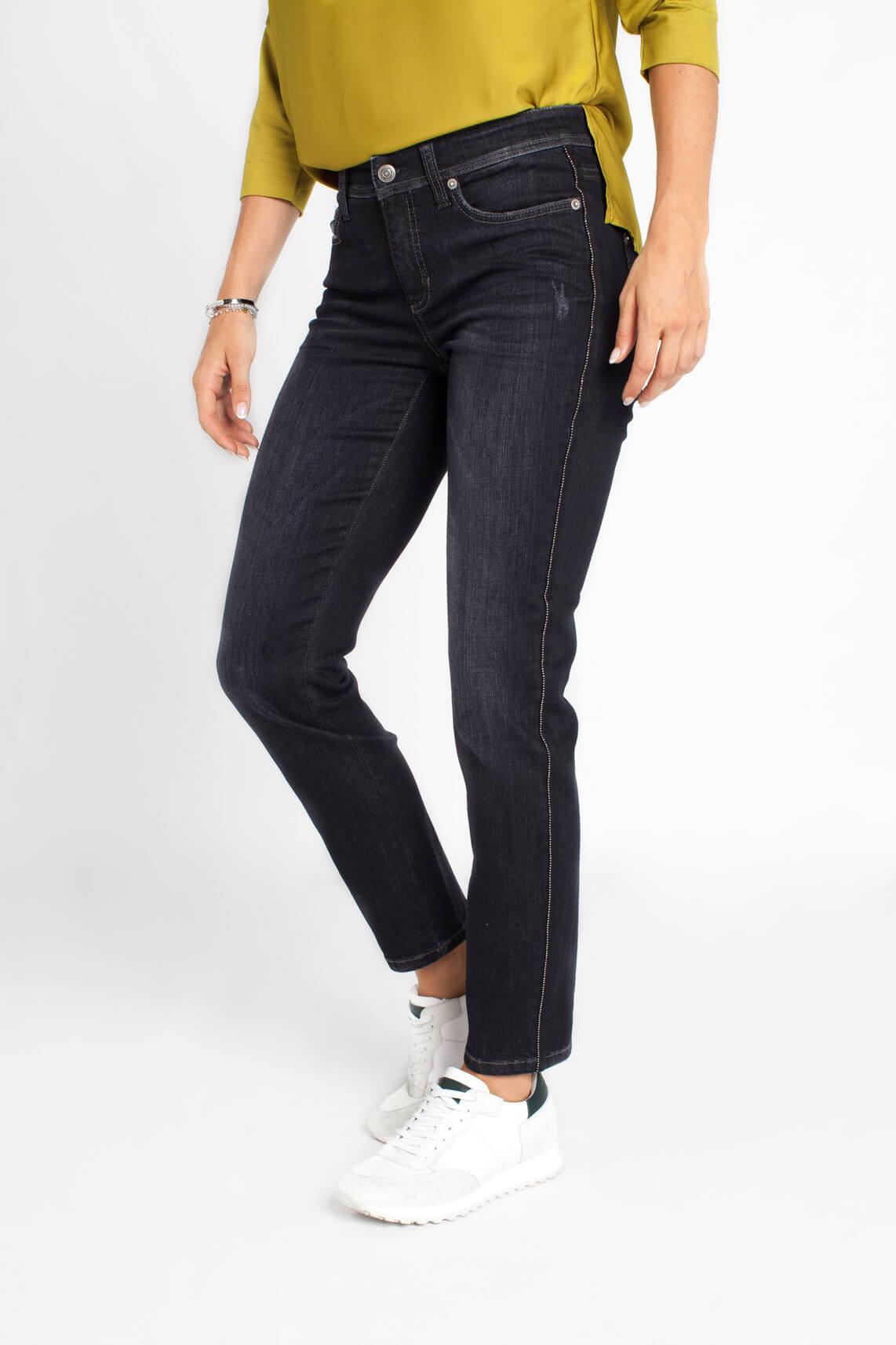 Cambio Dames Parla jeans met kettinkje Blauw