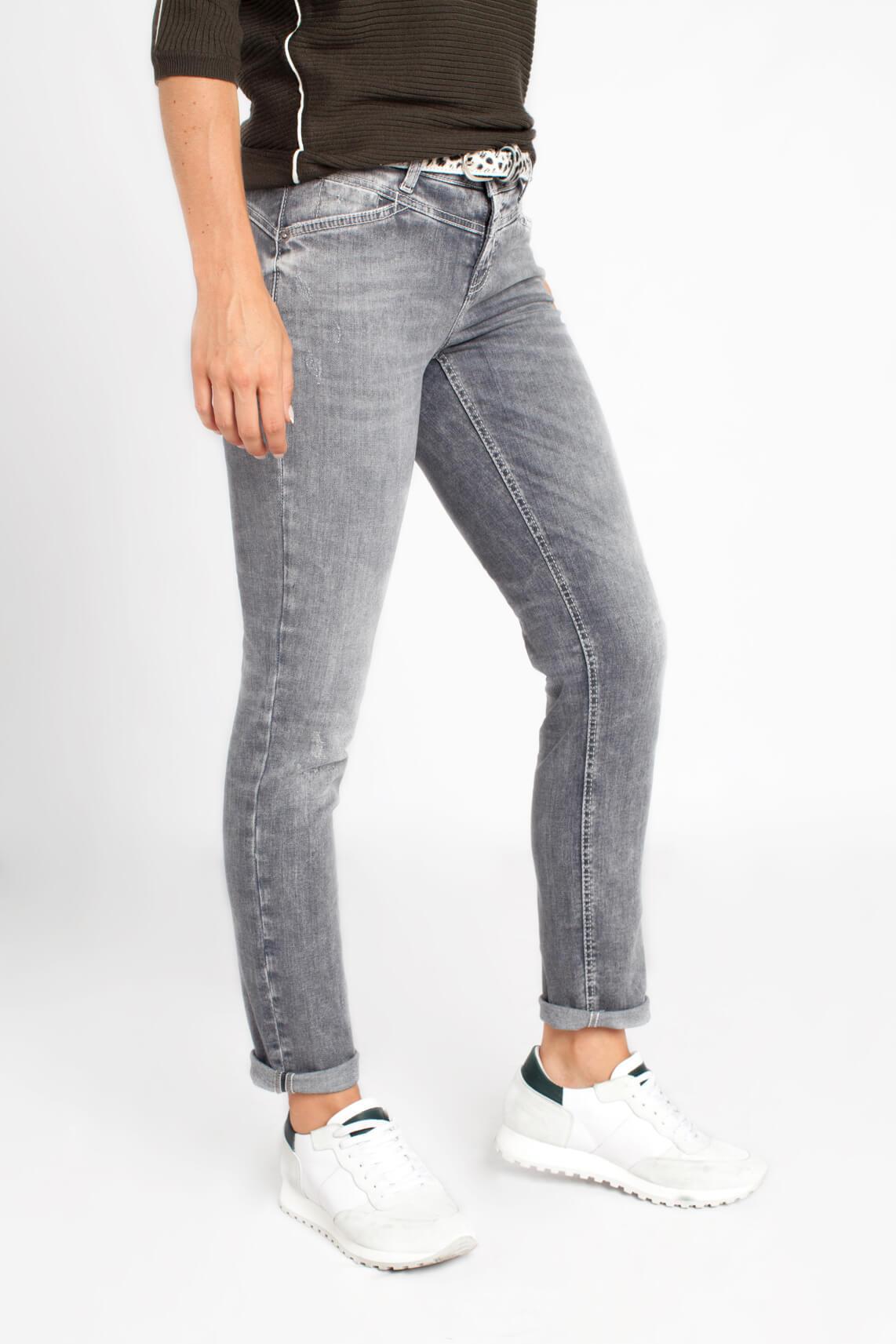 Cambio Dames Liane jeans grijs Grijs