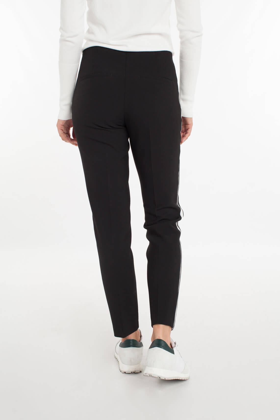 Cambio Dames Ros pantalon met bies zwart