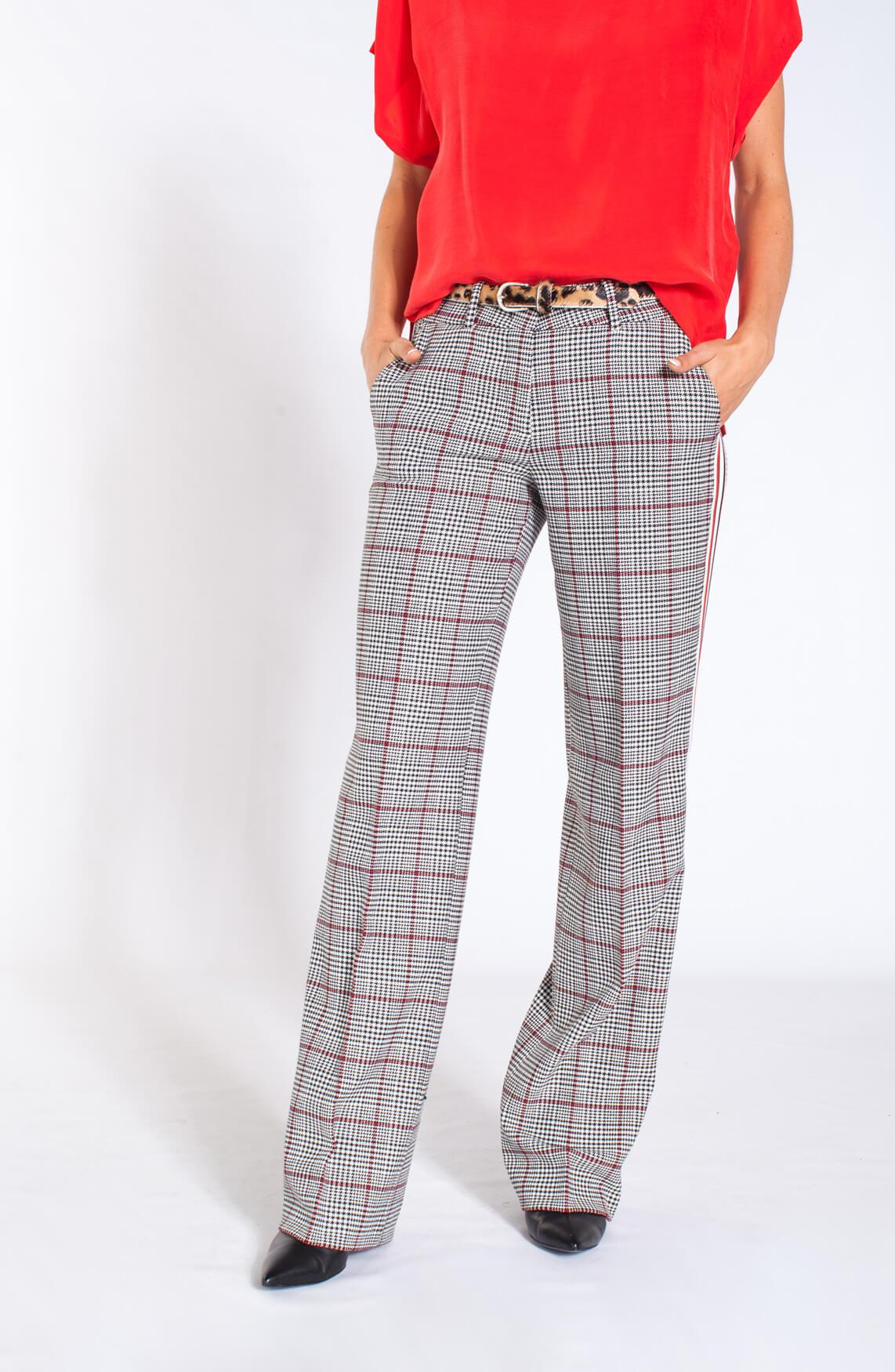 Cambio Dames Malice geruite pantalon Rood