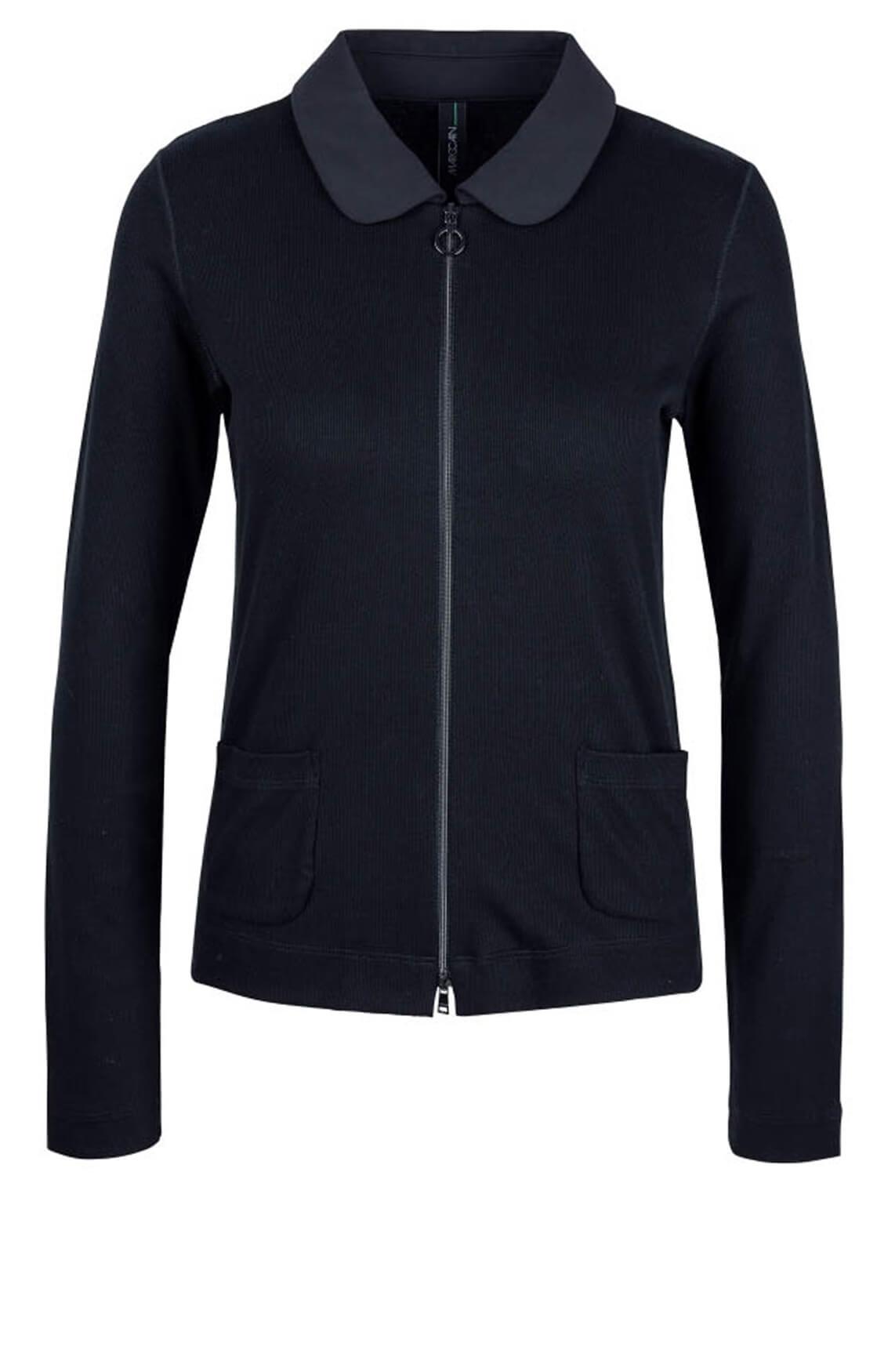 Marccain Sports Dames Vest in ribdesign Blauw