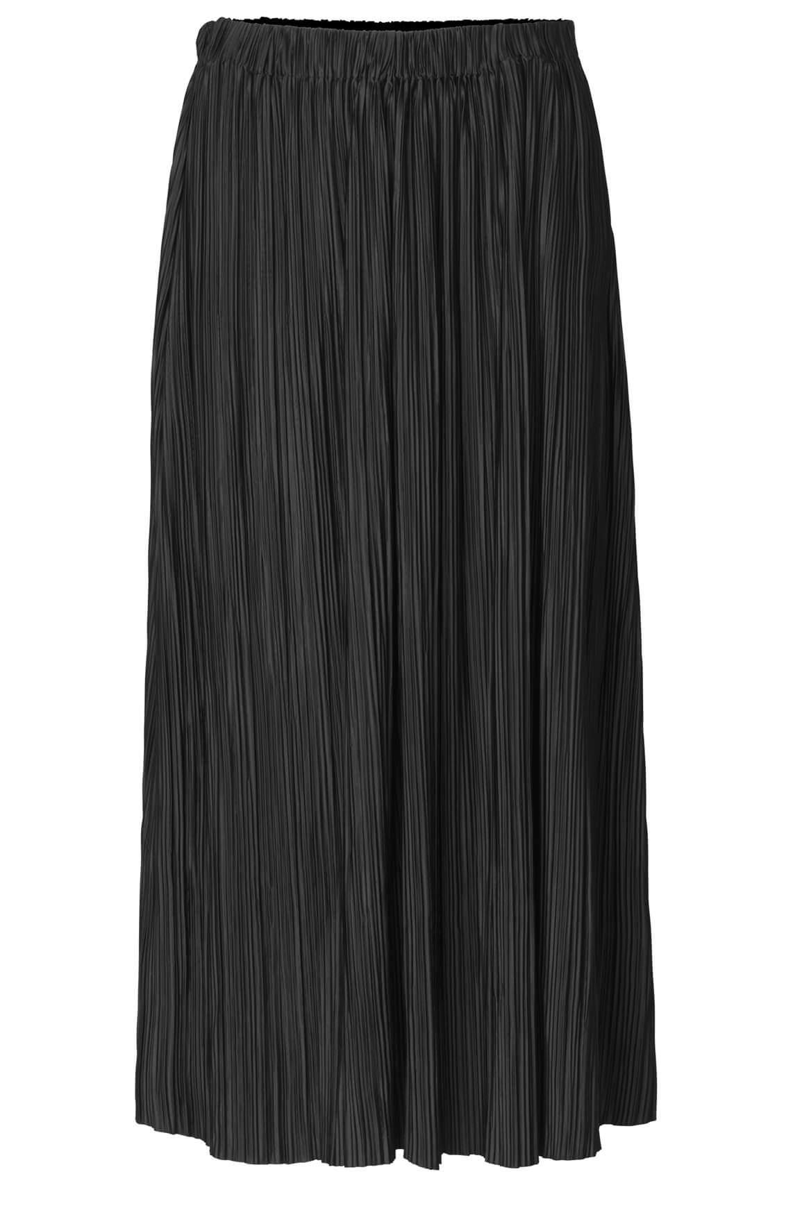 Samsoe Samsoe Dames Uma lange plissé rok zwart
