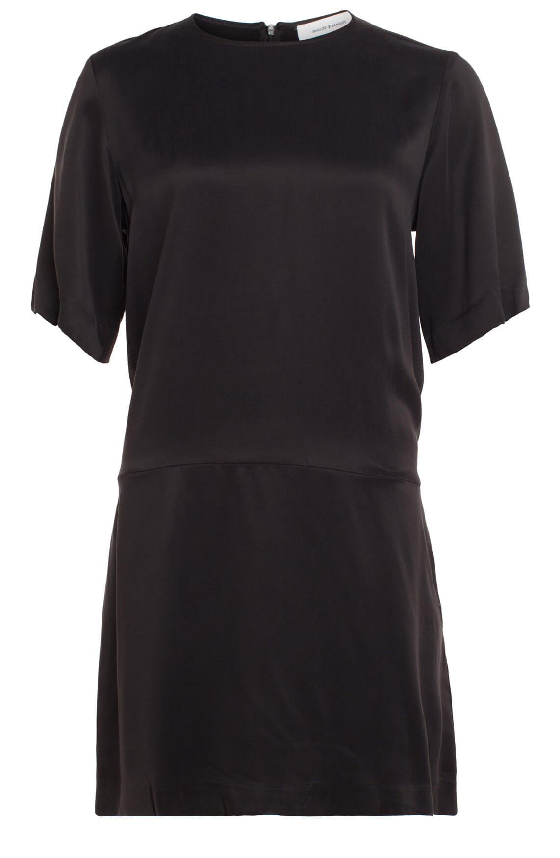 Samsoe Samsoe Dames Adelaide cupro jurk zwart
