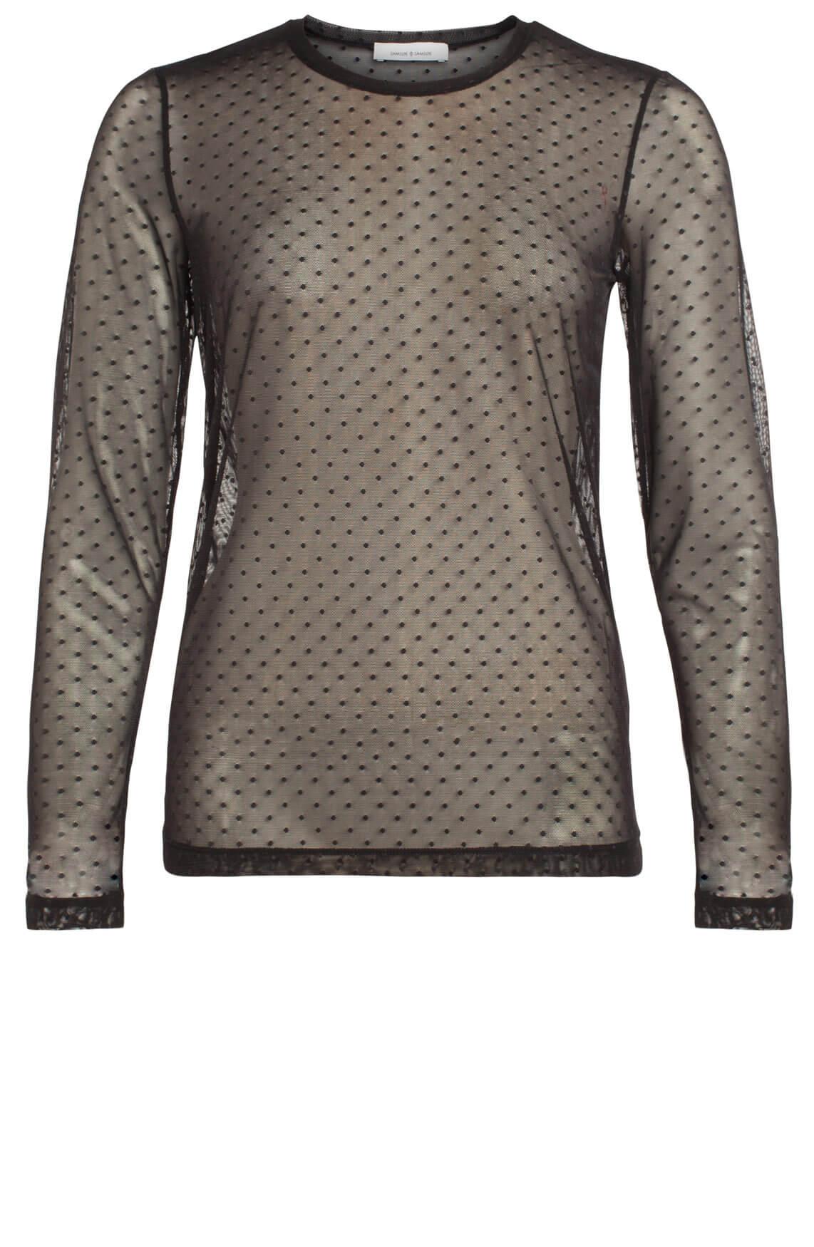 Samsoe Samsoe Dames Tracy transparant shirt zwart