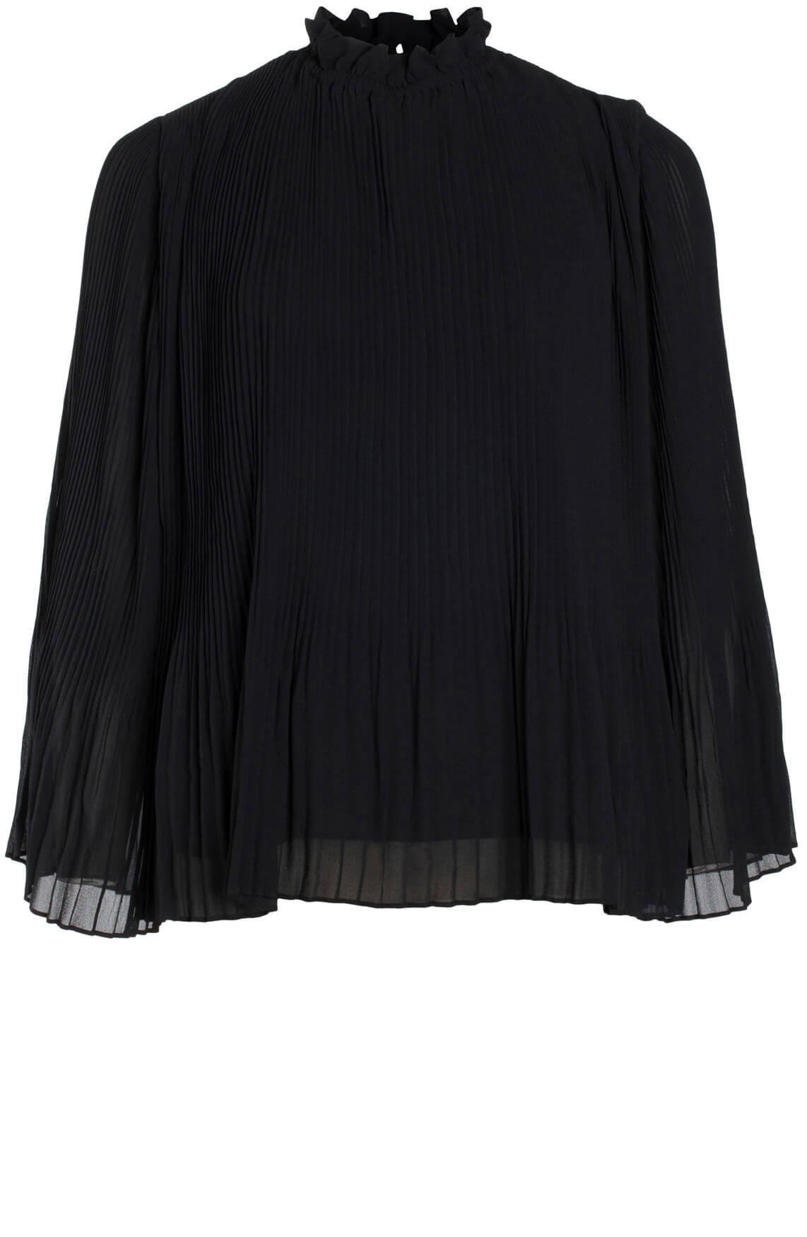 Samsoe Samsoe Dames Malie geplisseerde blouse zwart
