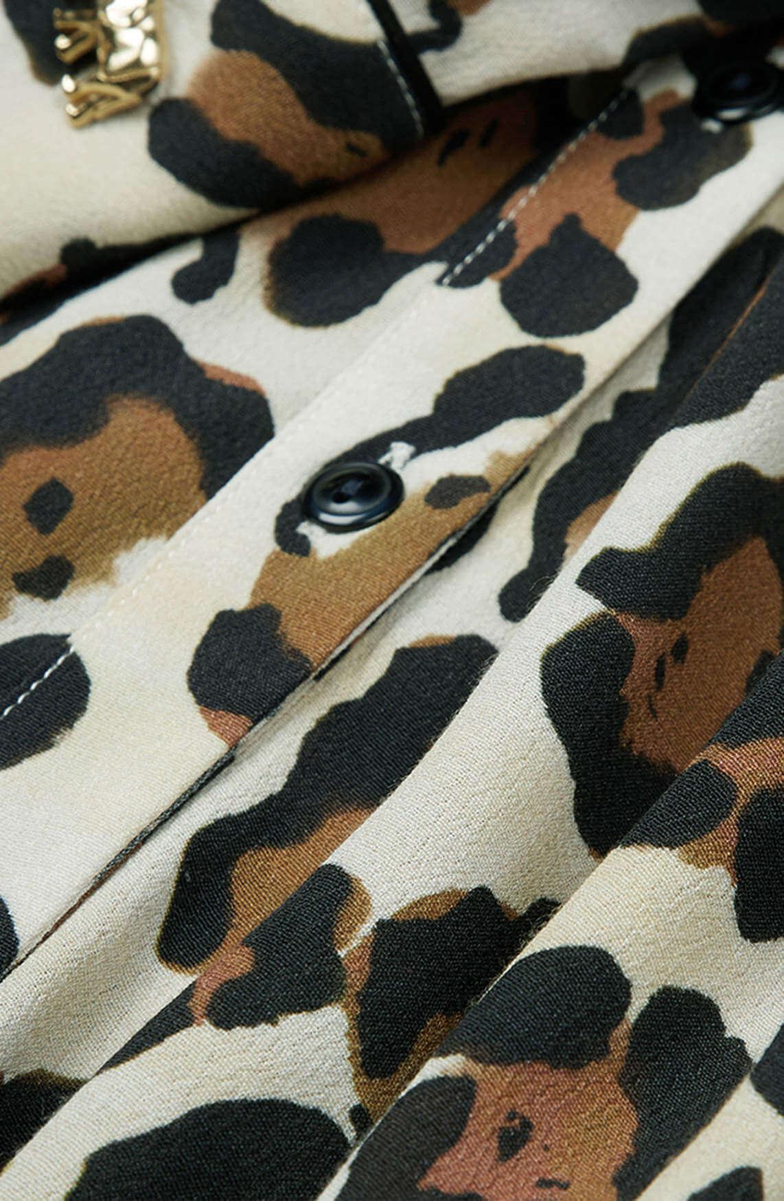Fabienne Chapot Dames Panterprint blouse Bruin