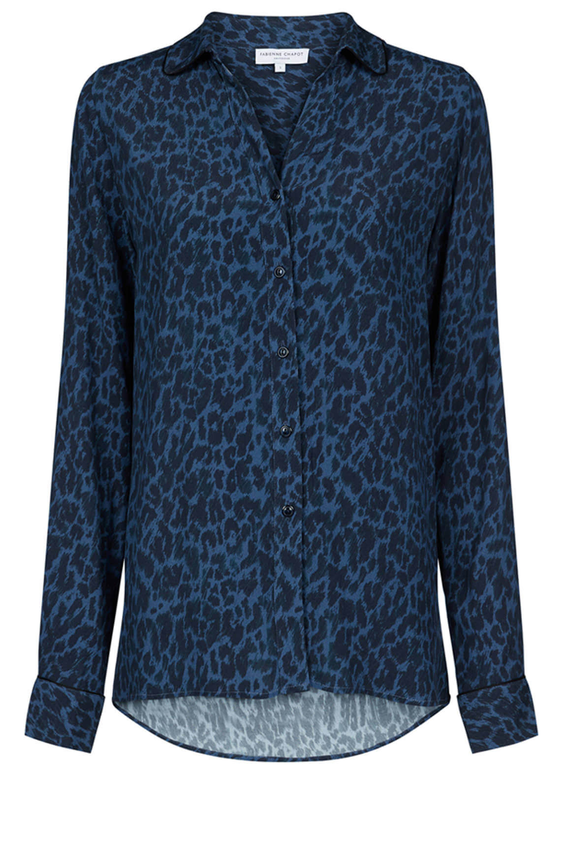 Fabienne Chapot Dames Panterprint blouse Blauw