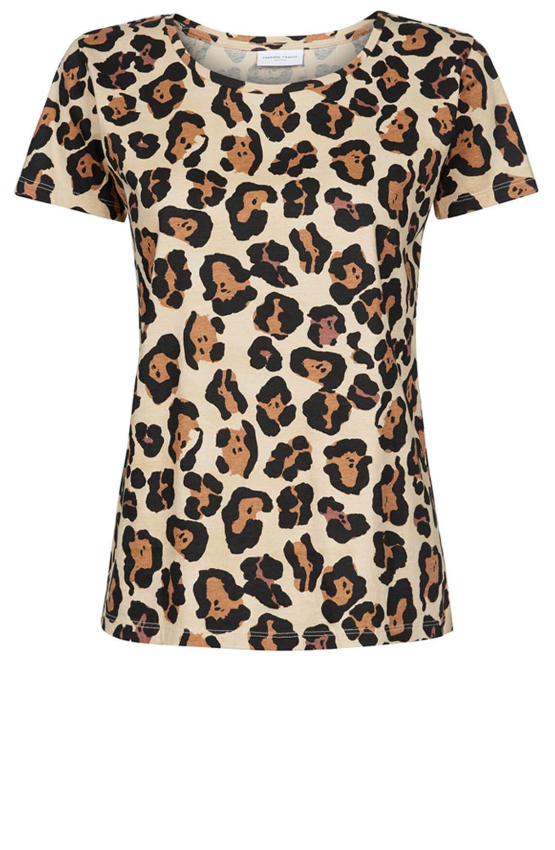 Fabienne Chapot Dames Panterprint shirt Bruin