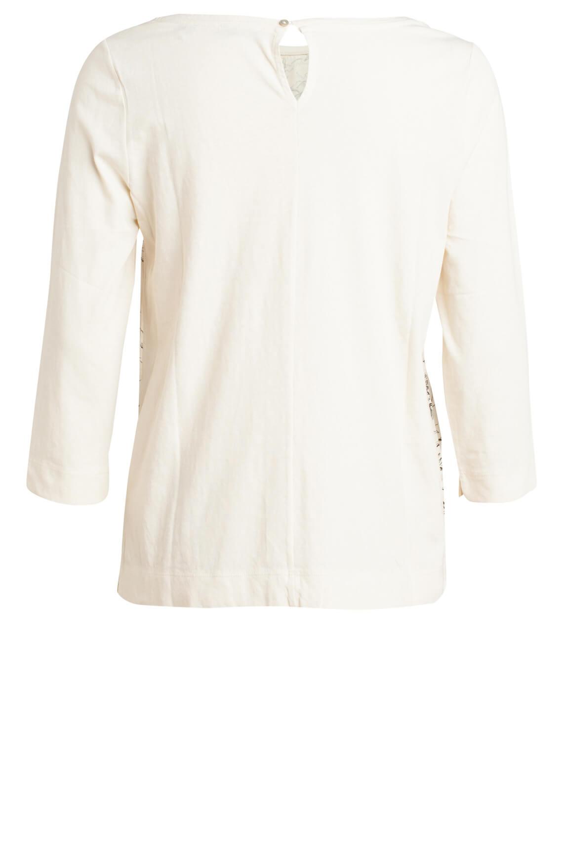Marc O'Polo Dames Shirt met bloemenprint Ecru