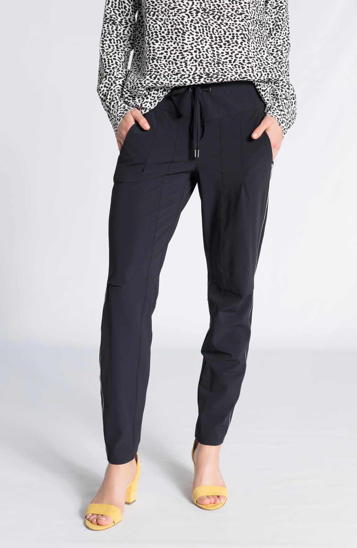 Cambio Dames Jil sportieve pantalon zwart