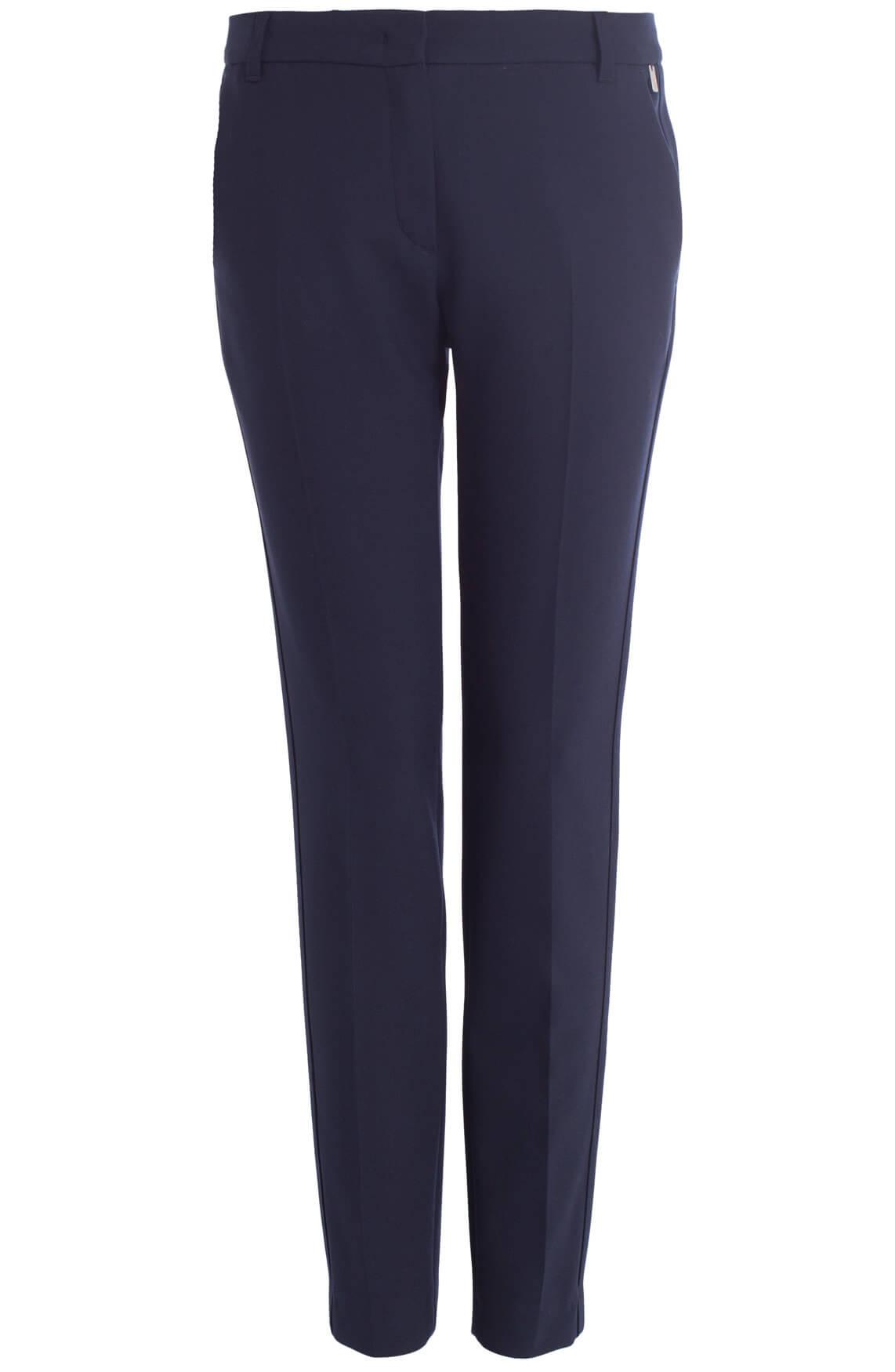 Anna Dames Donkerblauwe pantalon Blauw