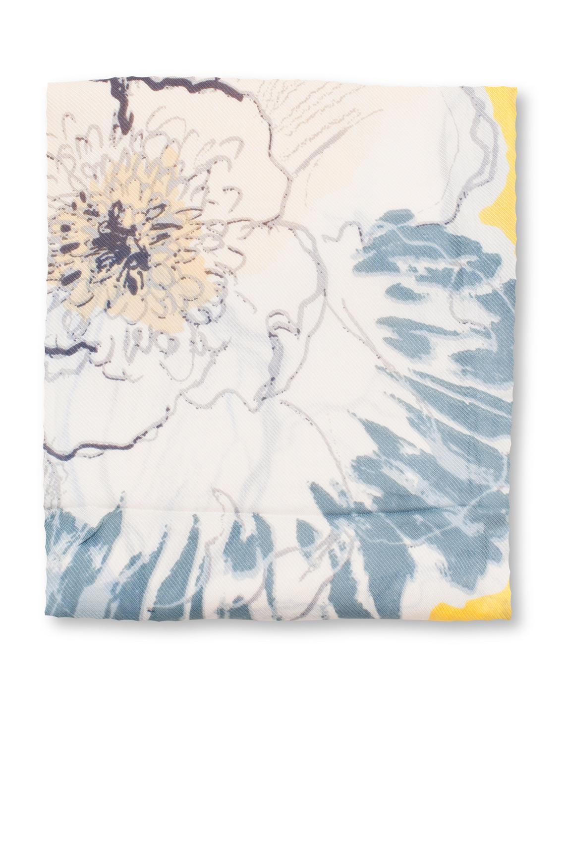marc-opolo Dames Shawl met bloemen geel