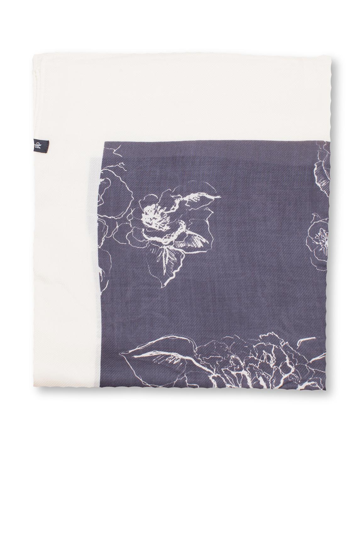 marc-opolo Dames Shawl met bloemenprint Ecru