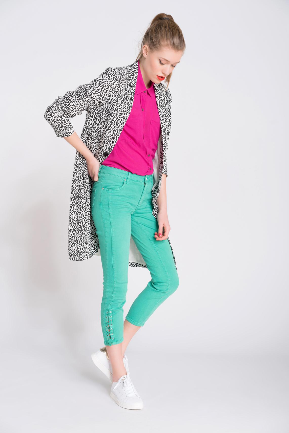 Rosner Dames Antonia jeans met lace-up detail groen