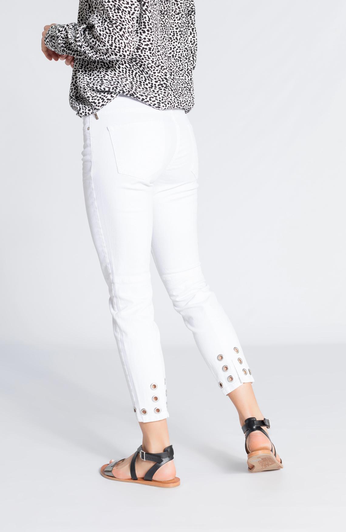 Rosner Dames Antonia jeans met eyelet wit