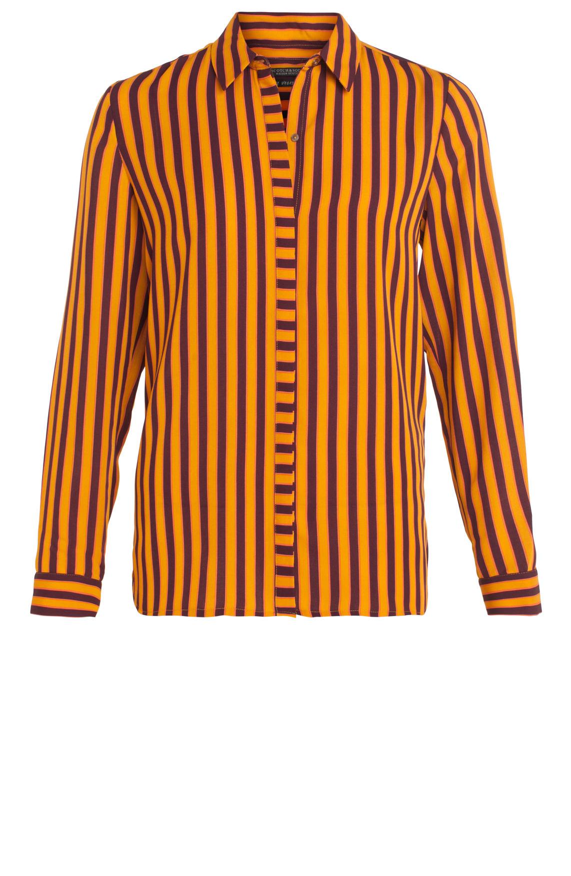 Maison Scotch Dames Gestreepte blouse Oranje