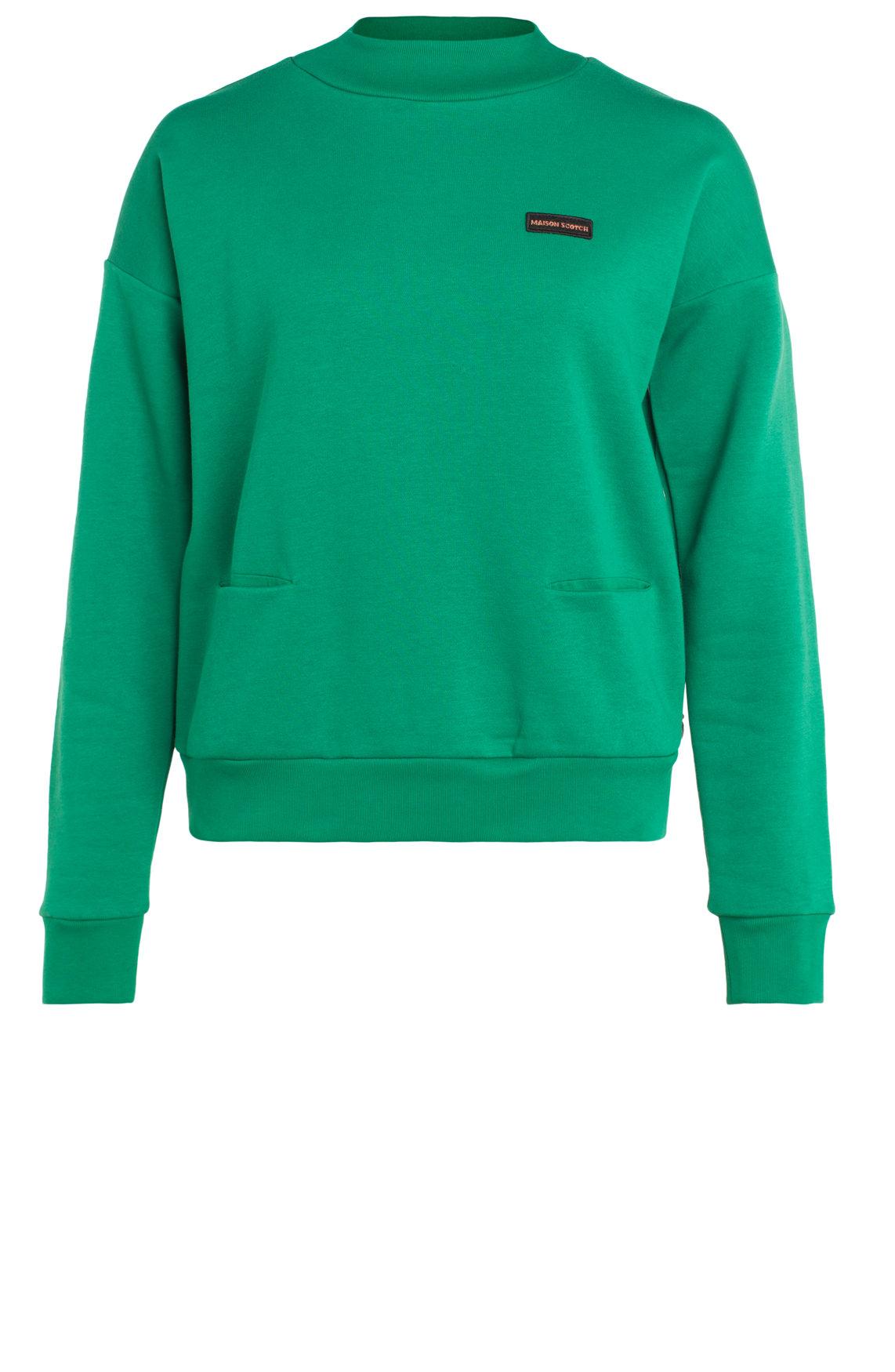 Maison Scotch Dames Sweater met hoge hals groen