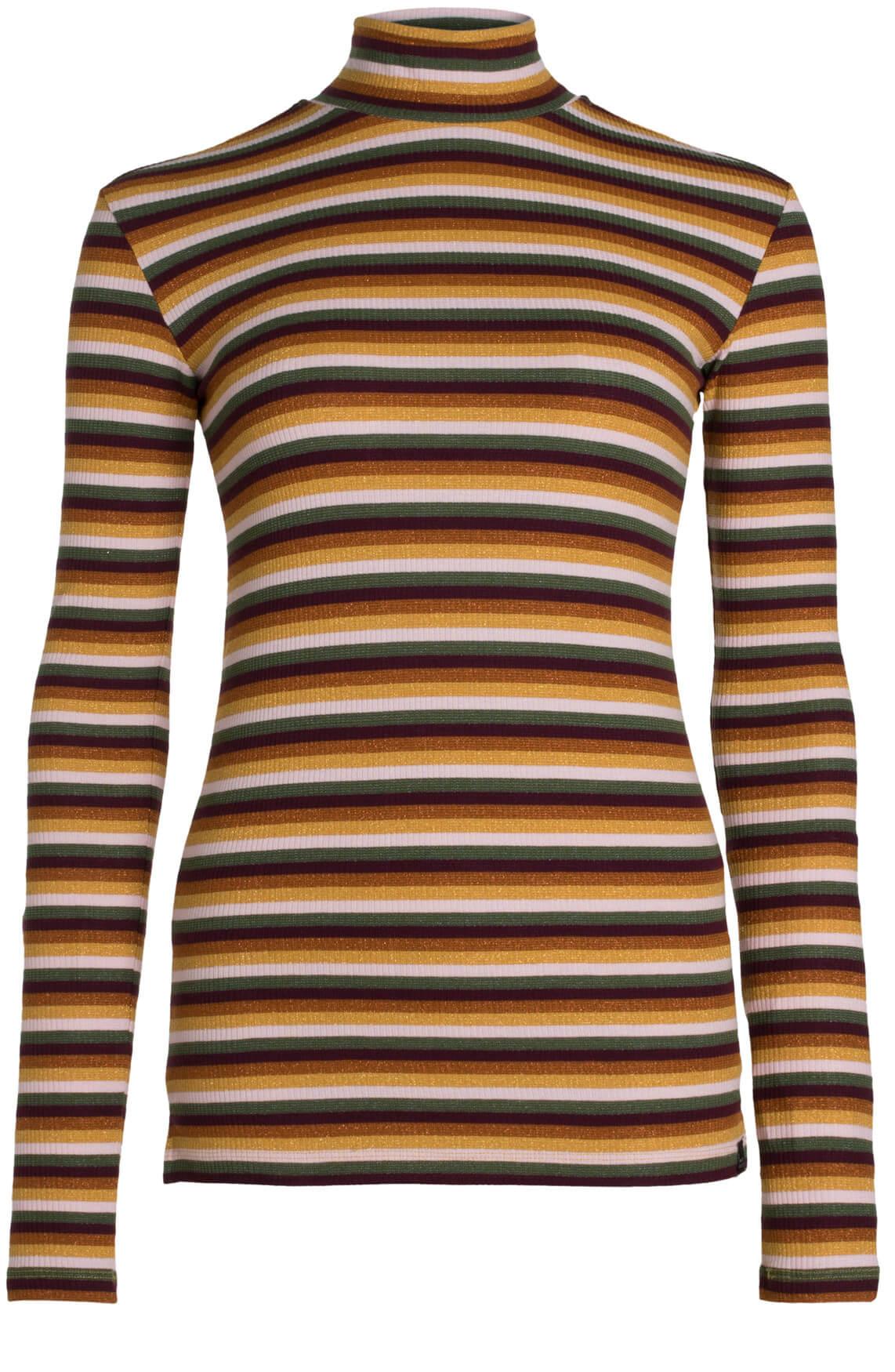 Maison Scotch Dames Gestreept shirt met col MultiColor