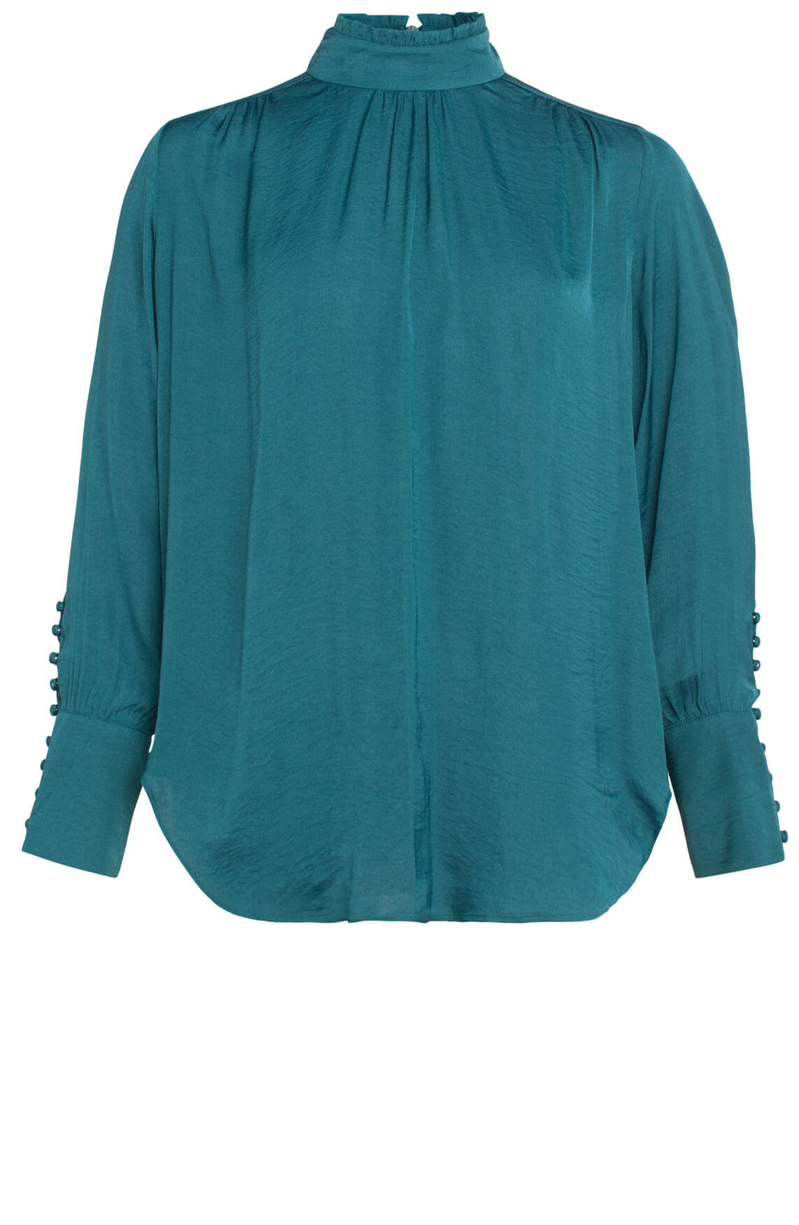 Second Female Dames Cora blouse met ruches groen