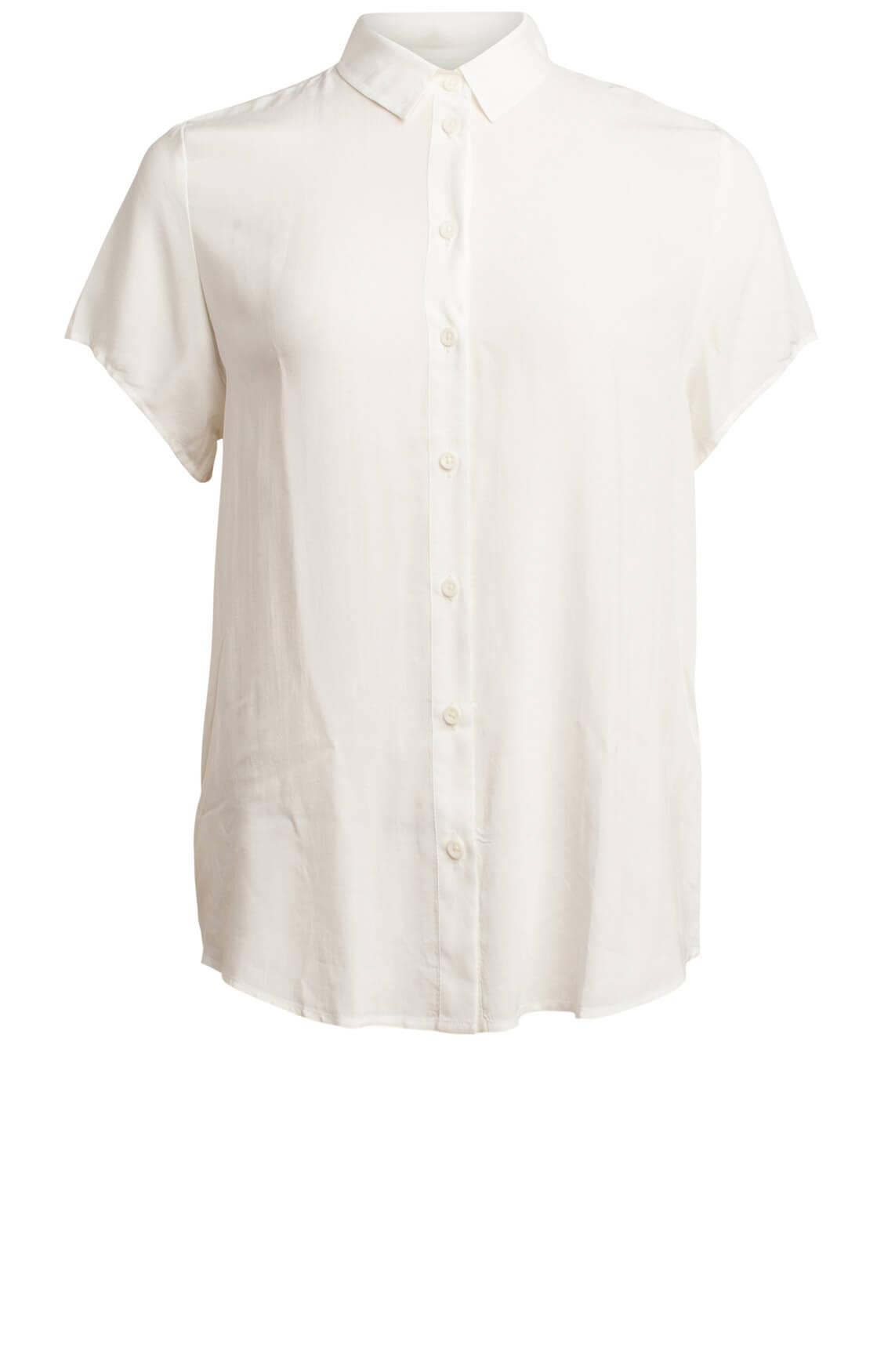 Samsoe Samsoe Dames Maj blouse wit wit