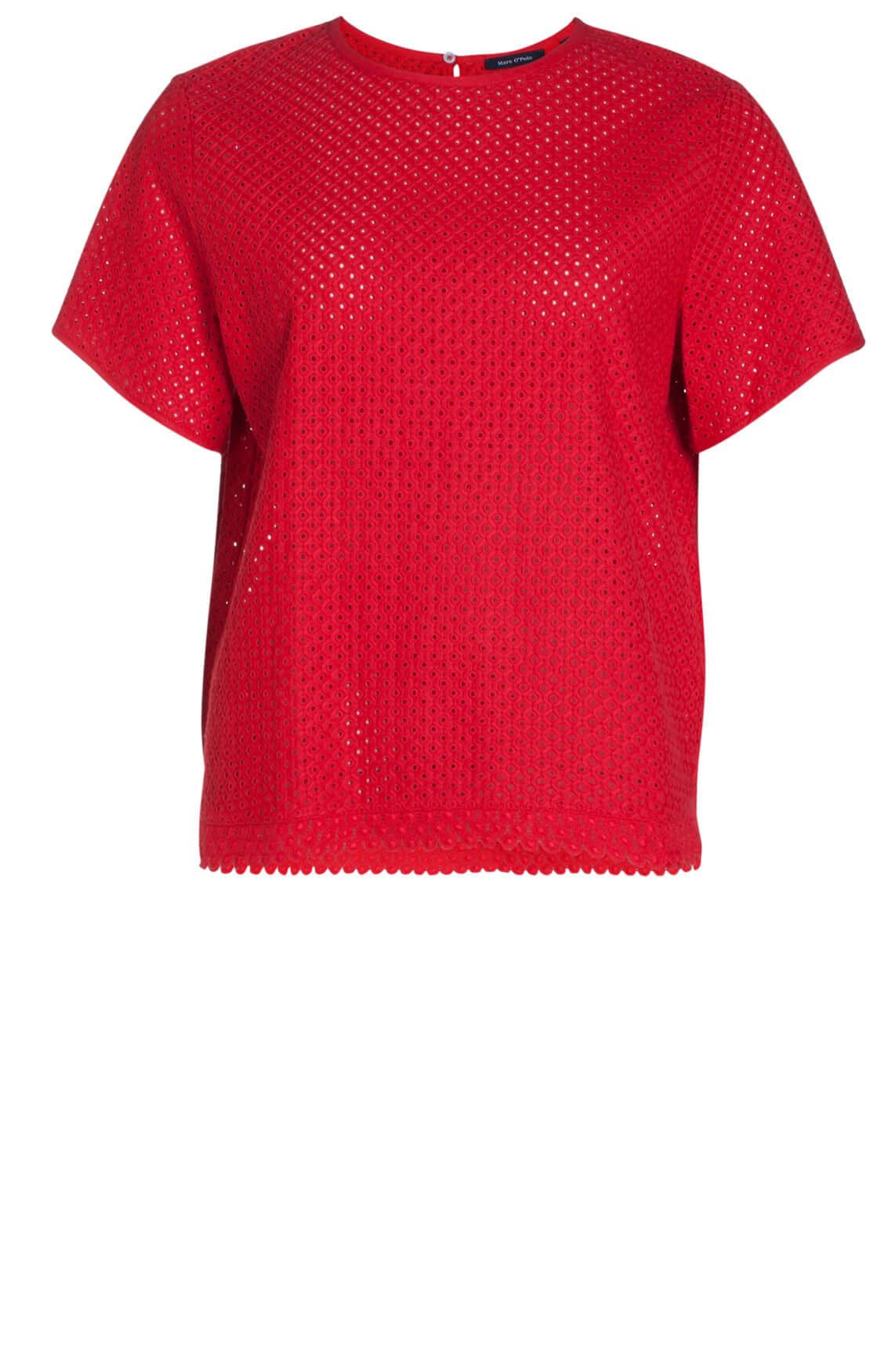 Marc O'Polo Dames Kanten shirt Rood