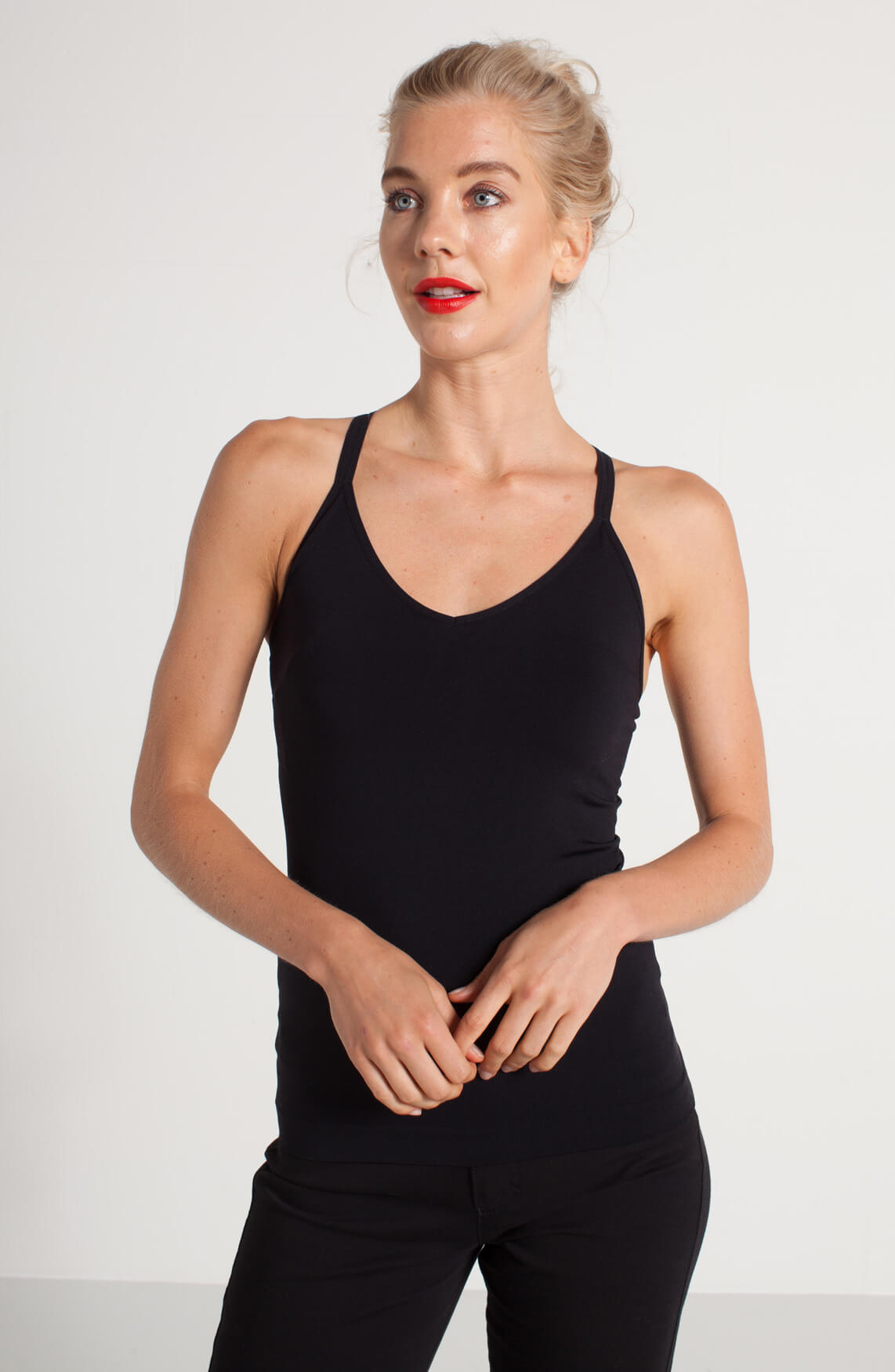 Anna Dames Shapewear top zwart