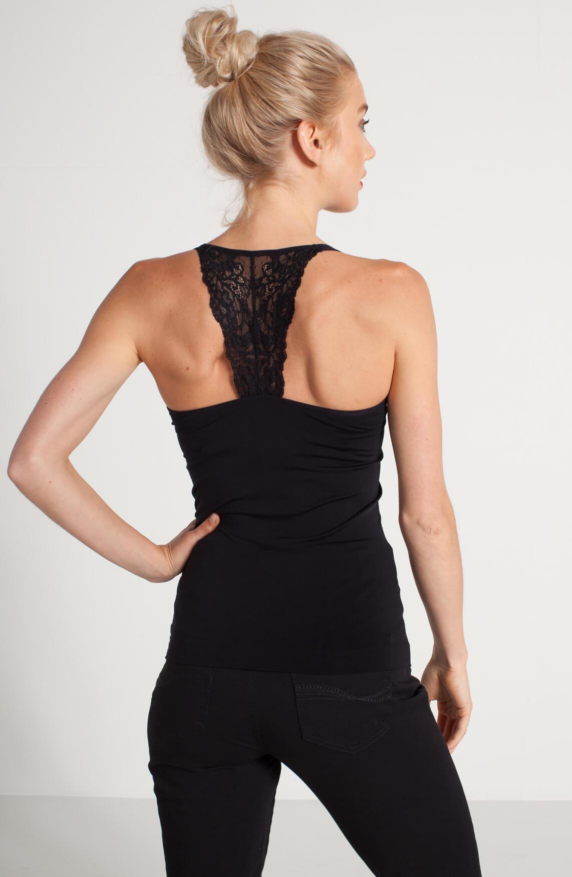 Anna Dames Shapewear top zwart