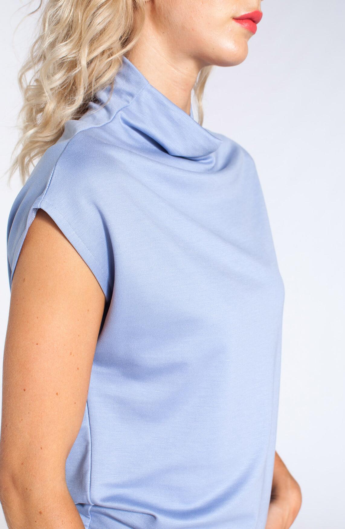 Anna Dames Oversized top met col Blauw