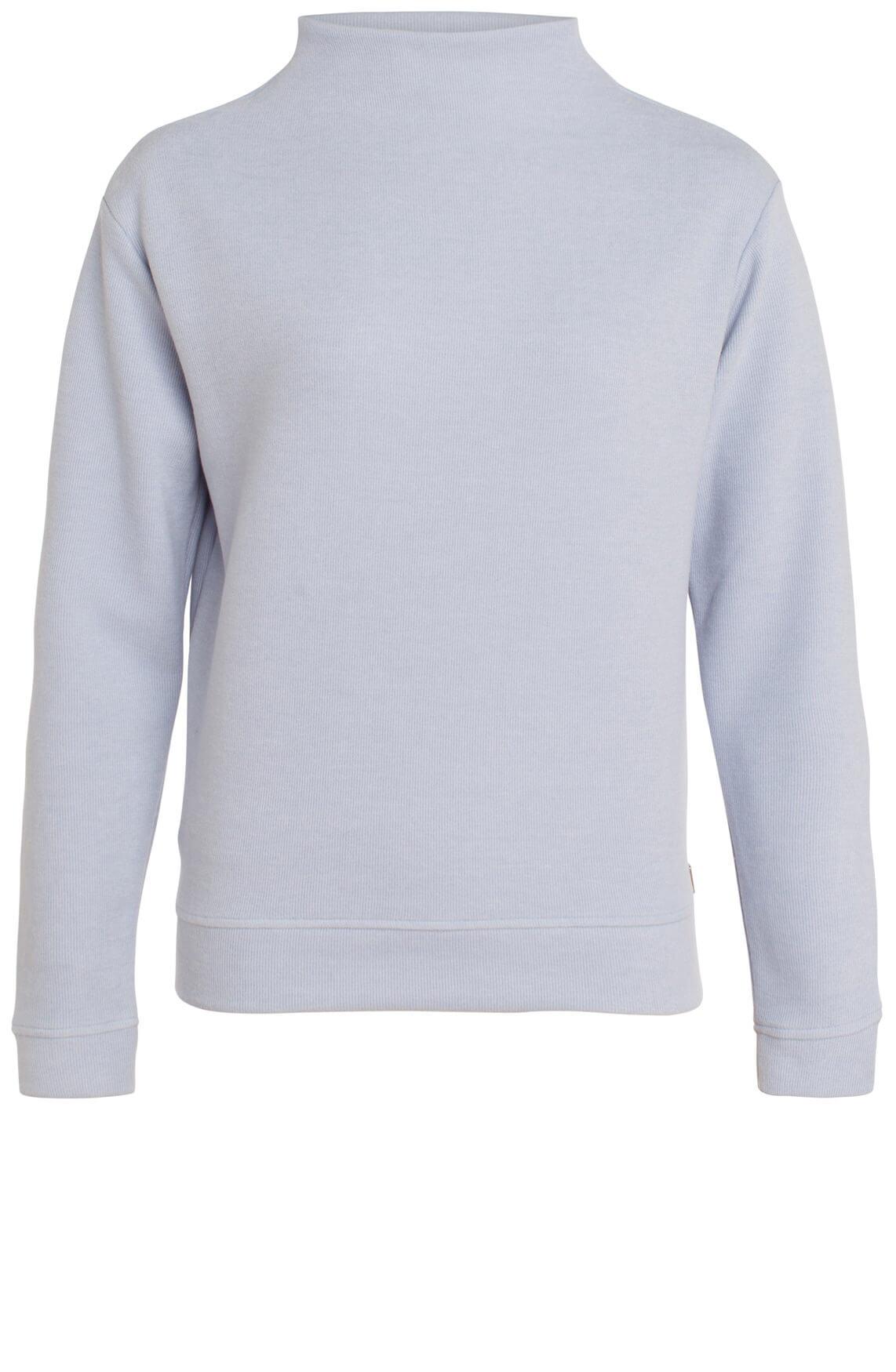 Anna Dames Sweater met hoge hals Blauw