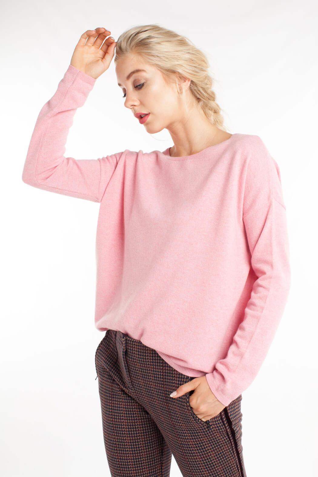 Anna Dames Cashmere pullover roze roze
