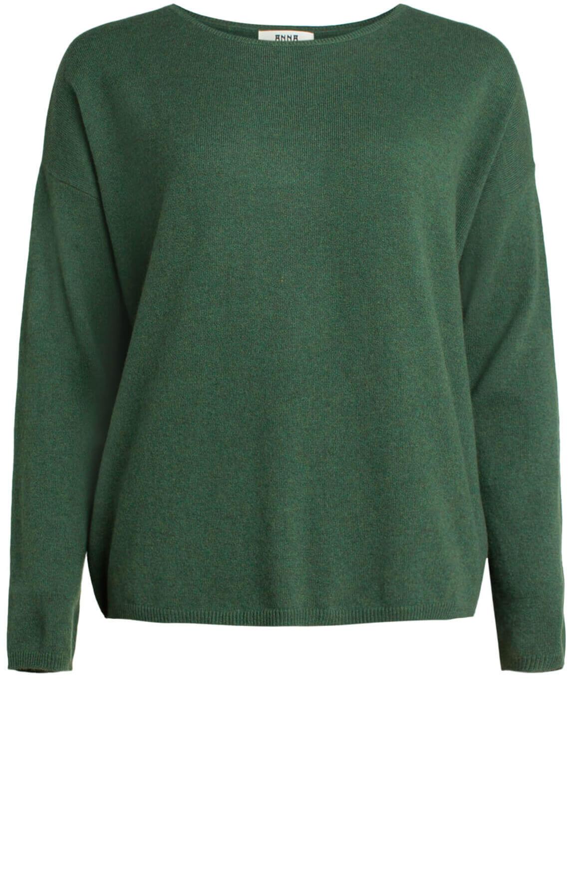 Anna Dames Cashmere pullover groen groen