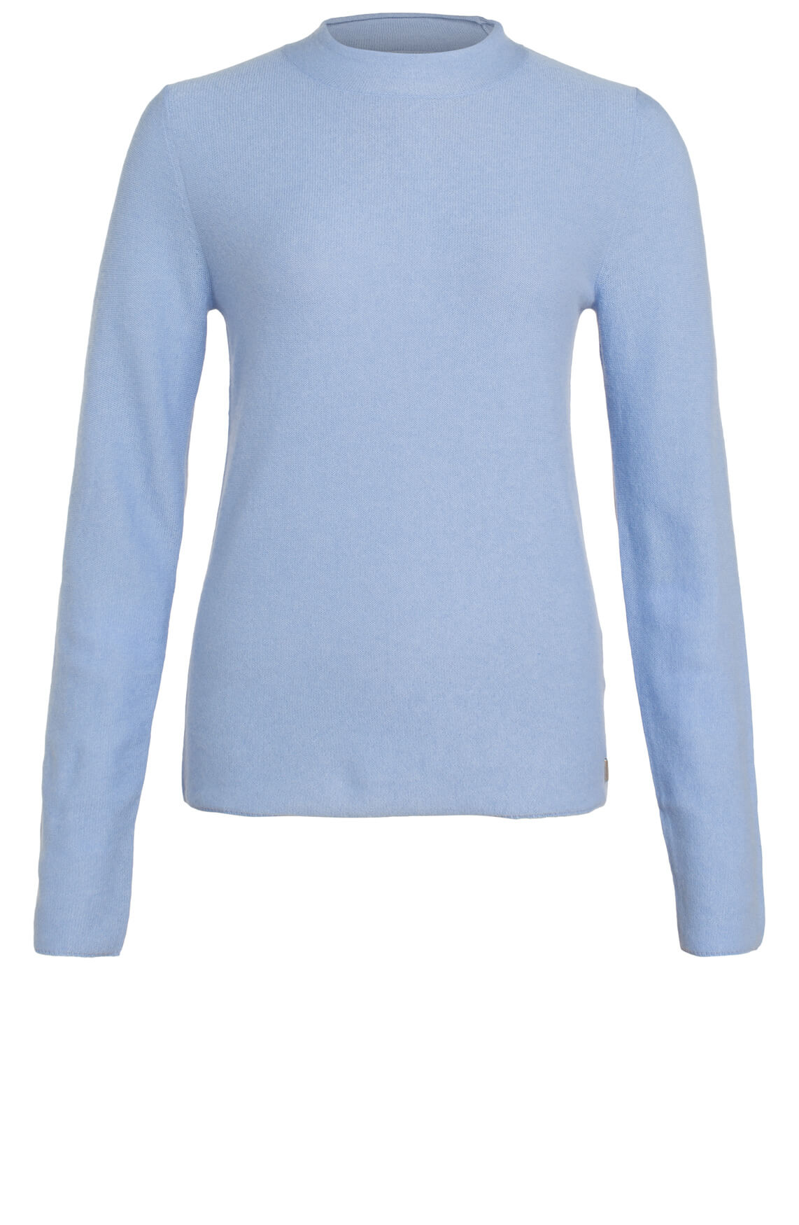 Anna Dames Cashmere pullover met col Blauw