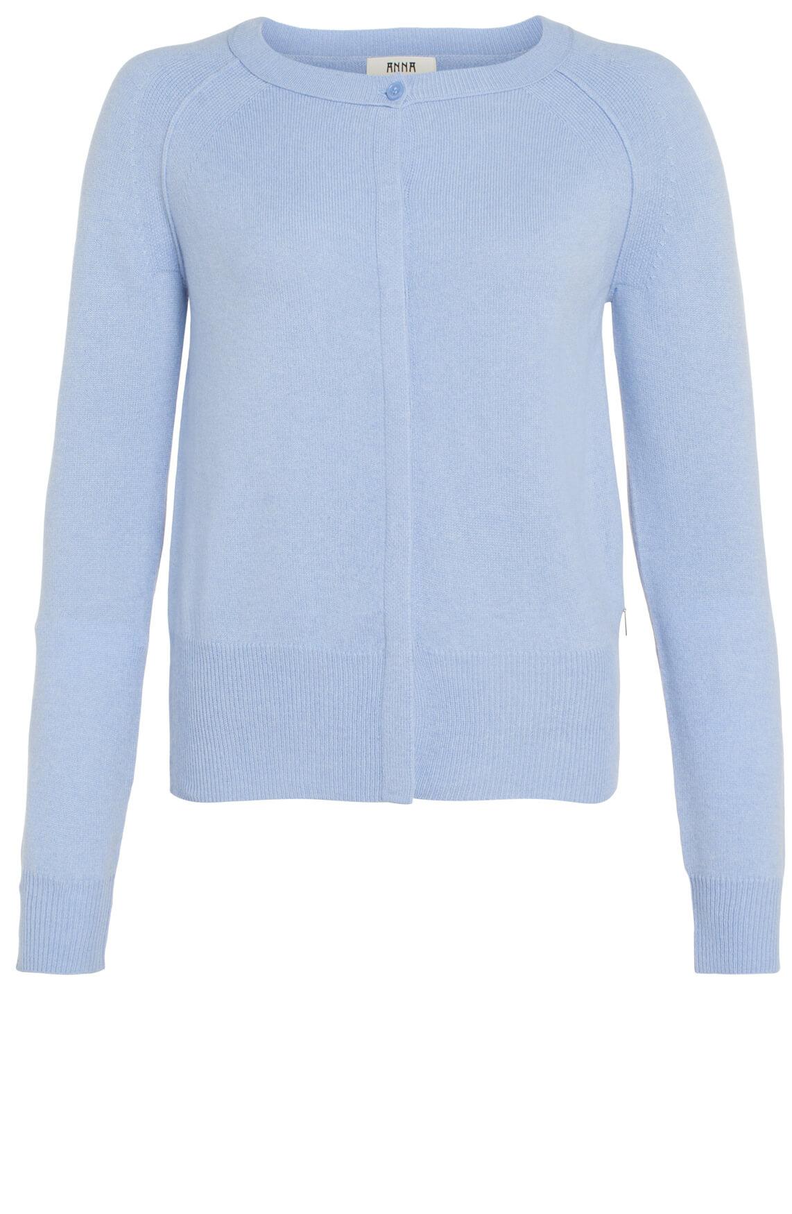 Anna Dames Cashmere vest blauw Blauw