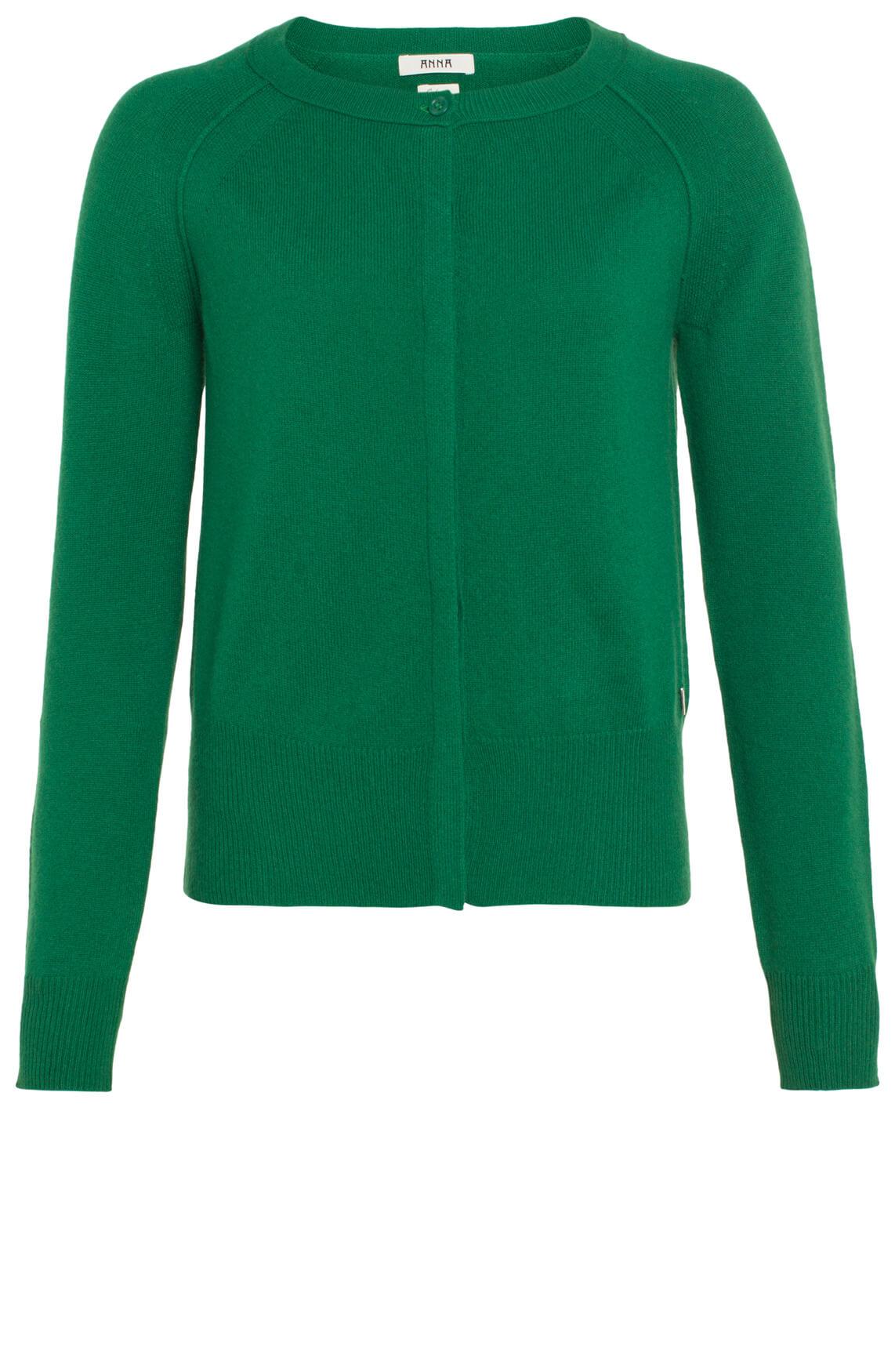 Anna Dames Cashmere vest groen groen