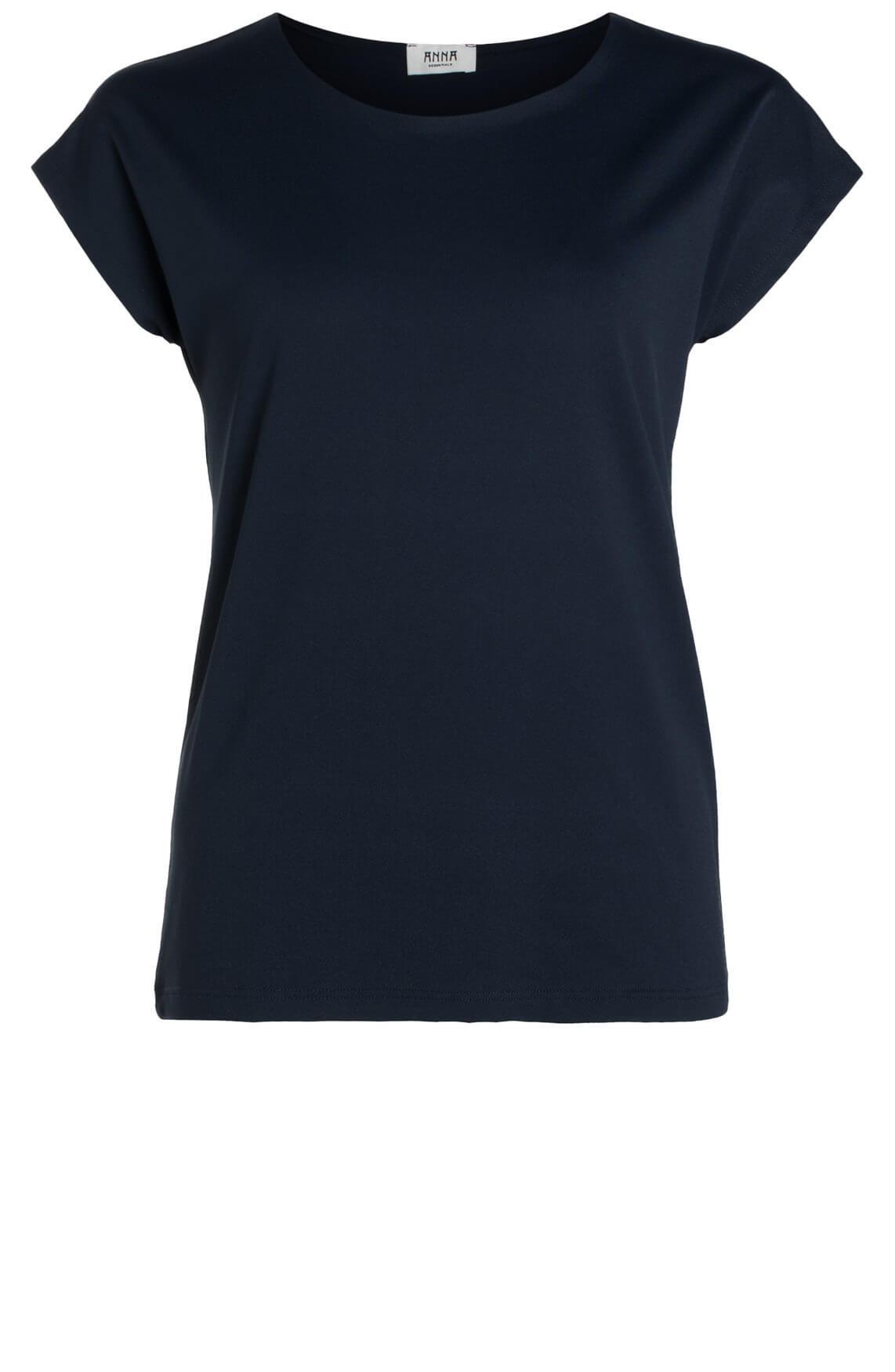 Anna Dames Shirt met seamless hals Blauw