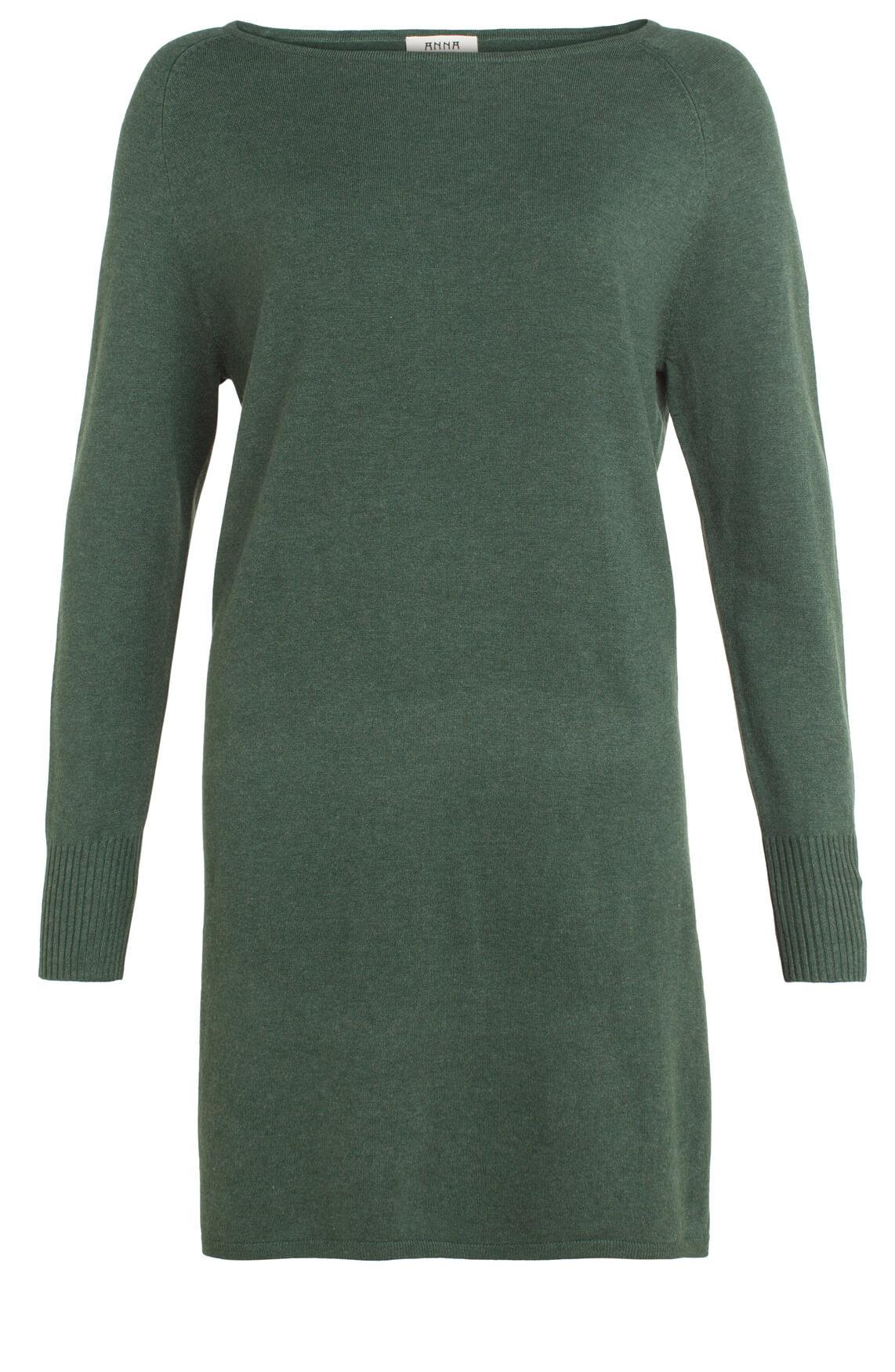 Anna Dames Fijngebreide tuniekjurk groen