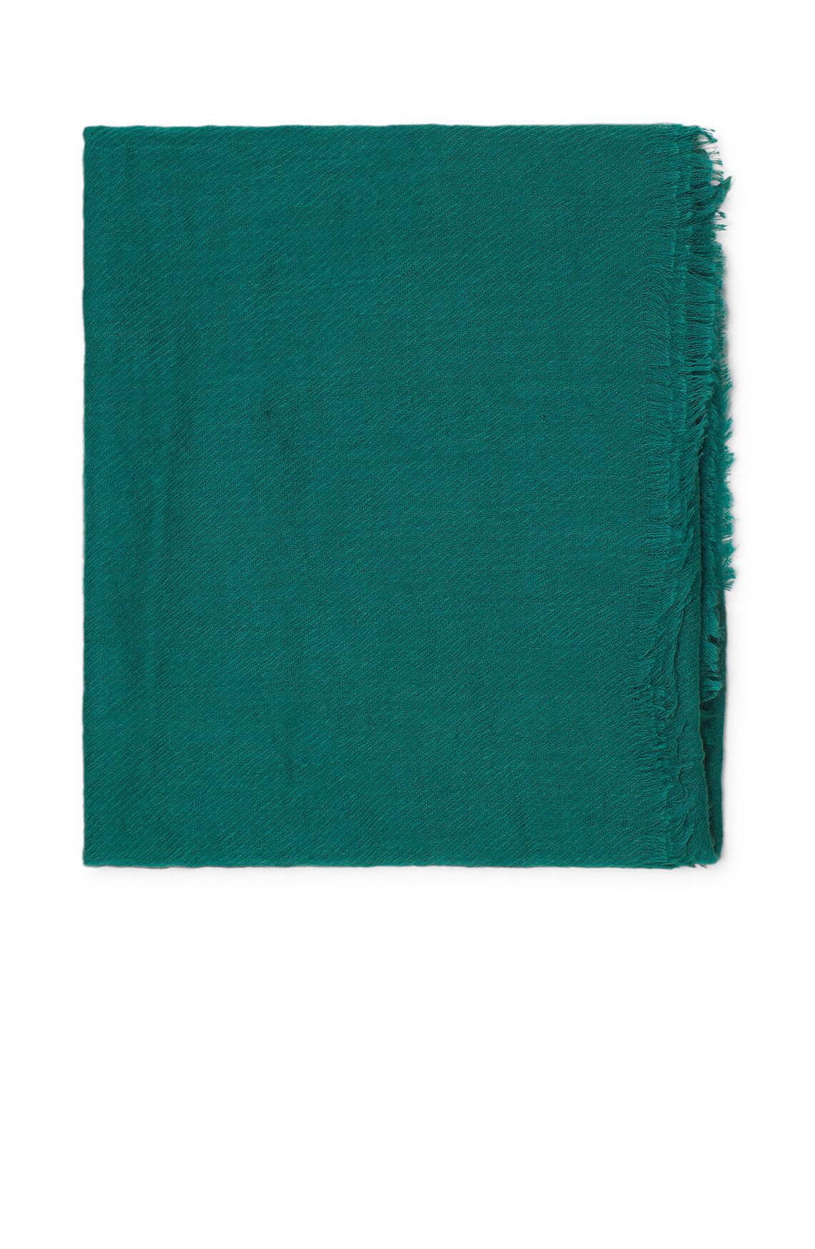 Codello Dames Shawl met franjes groen
