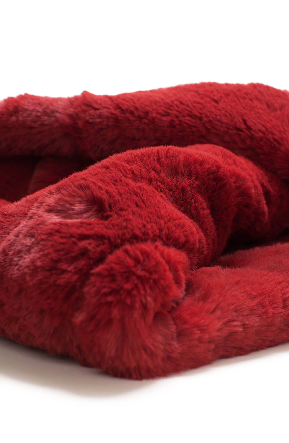 Codello Dames Fake fur colshawl Rood