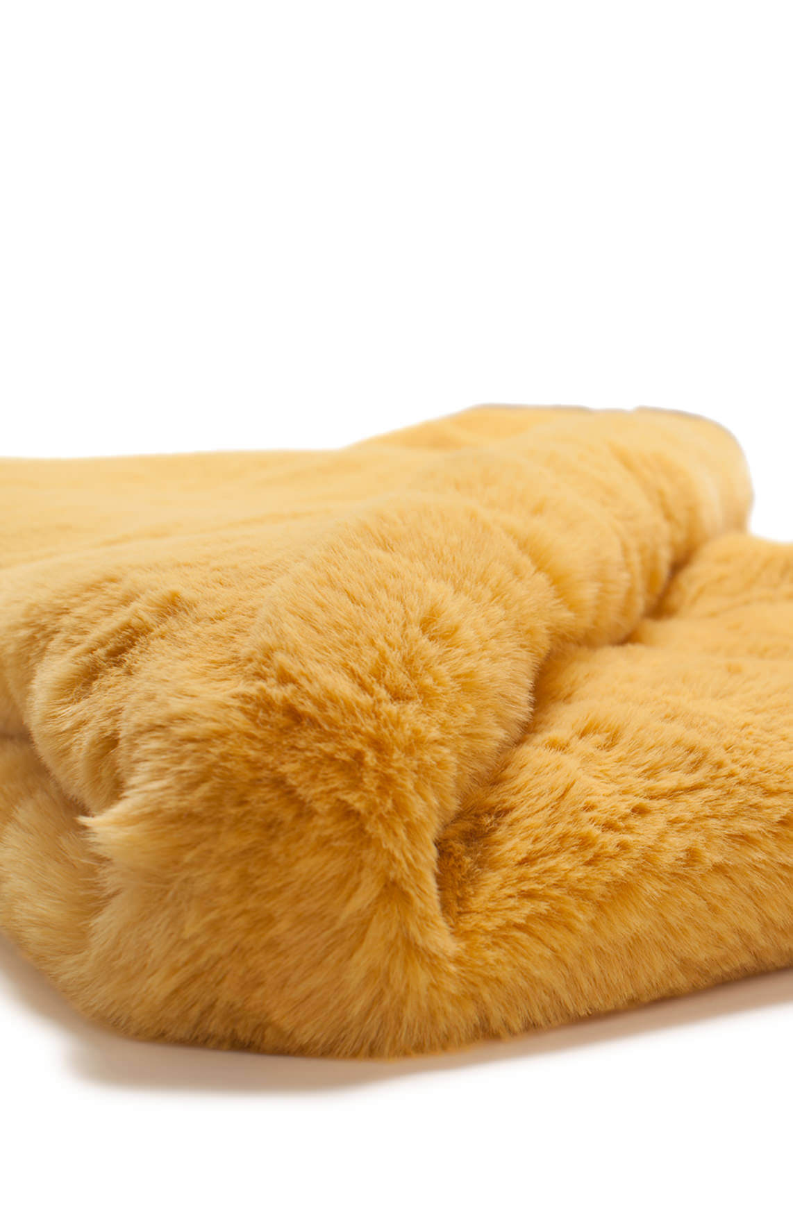 Codello Dames Fake fur colshawl geel