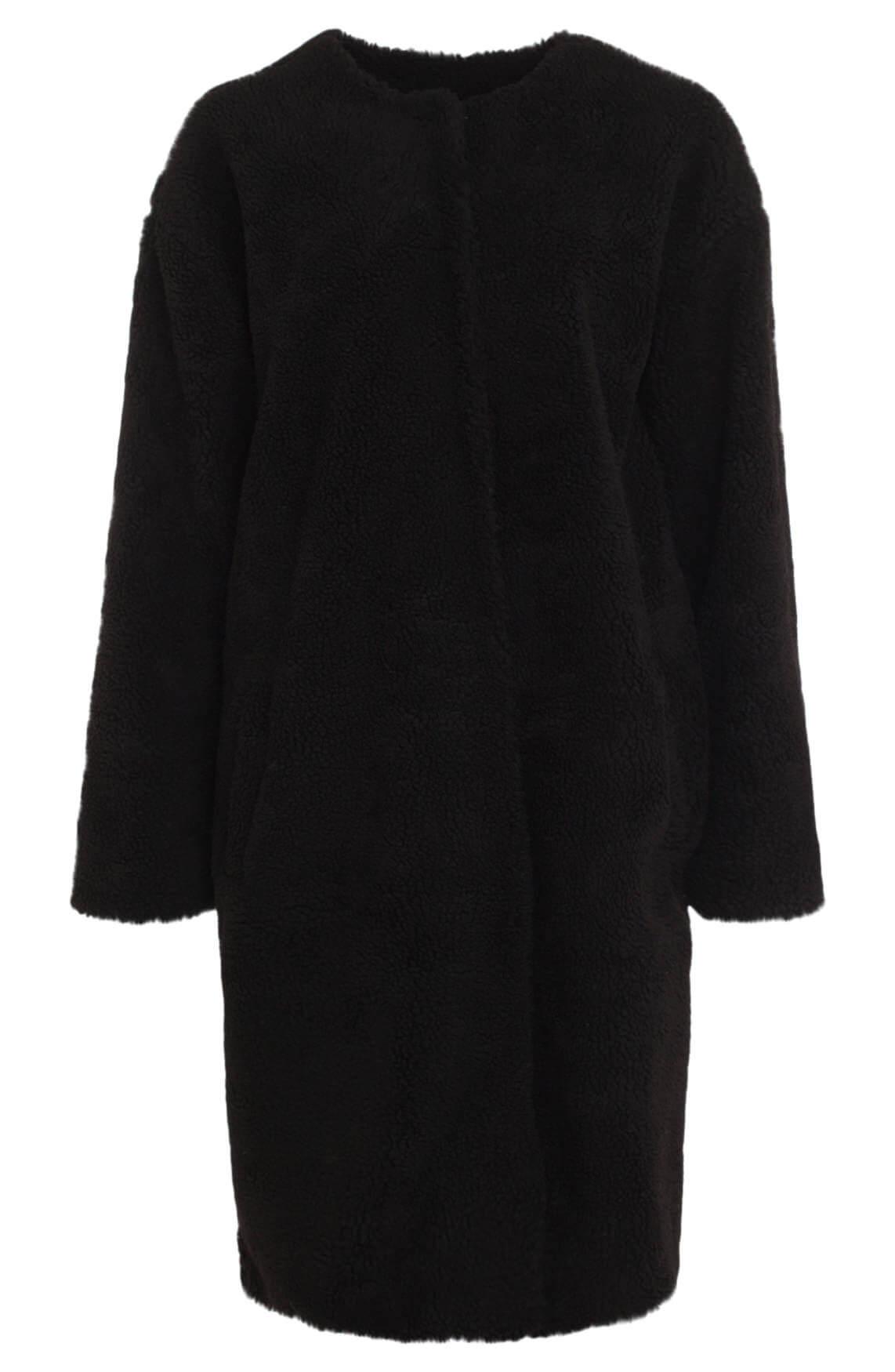 10 Days Dames Teddy coat zwart