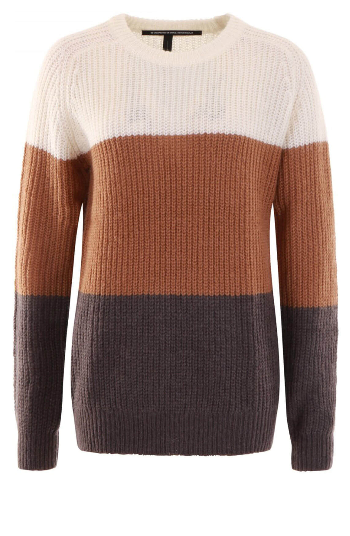 10 Days Dames Colorblock pullover wit