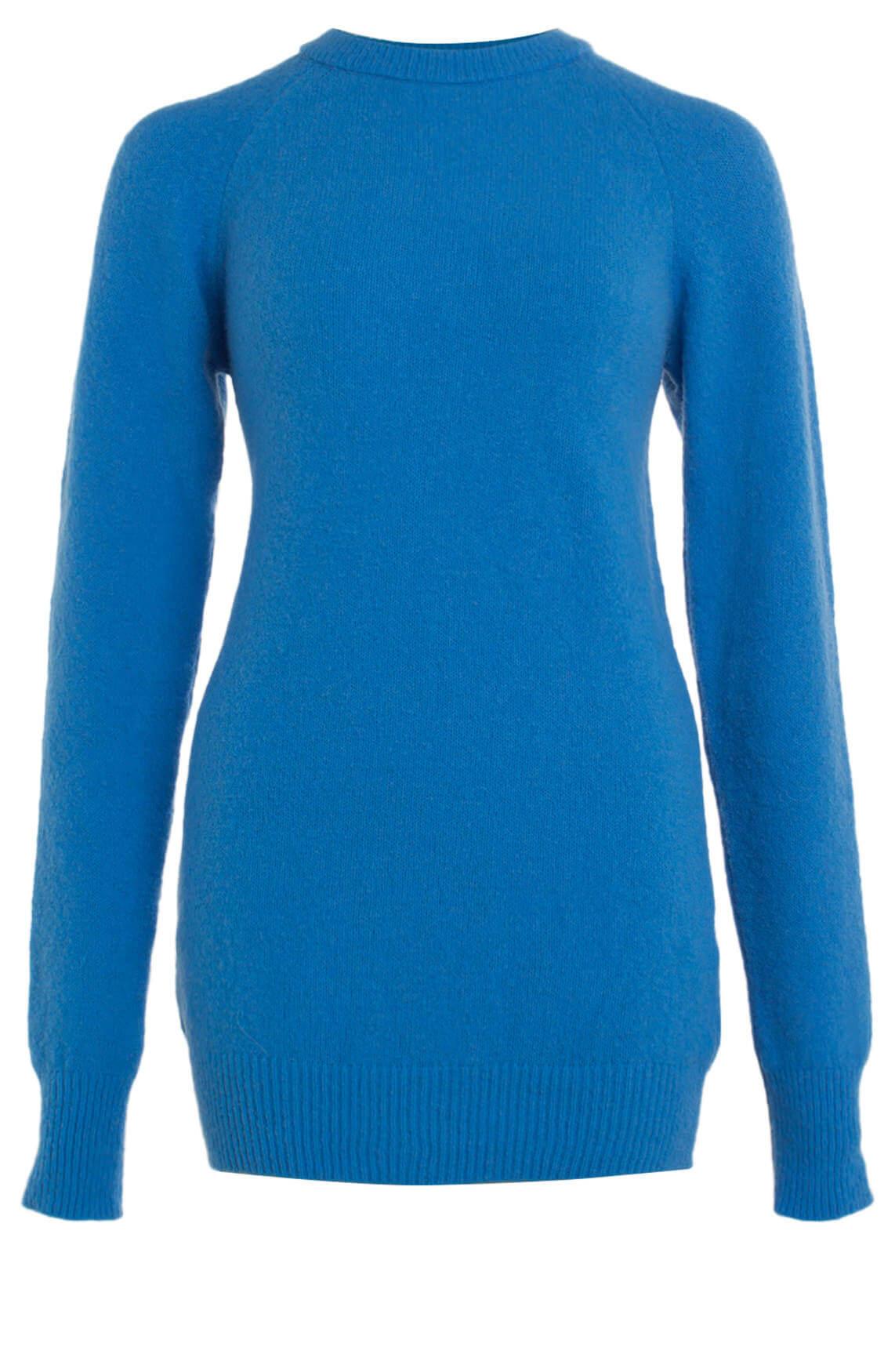 10 Days Dames Fijngebreide pullover met merino Blauw