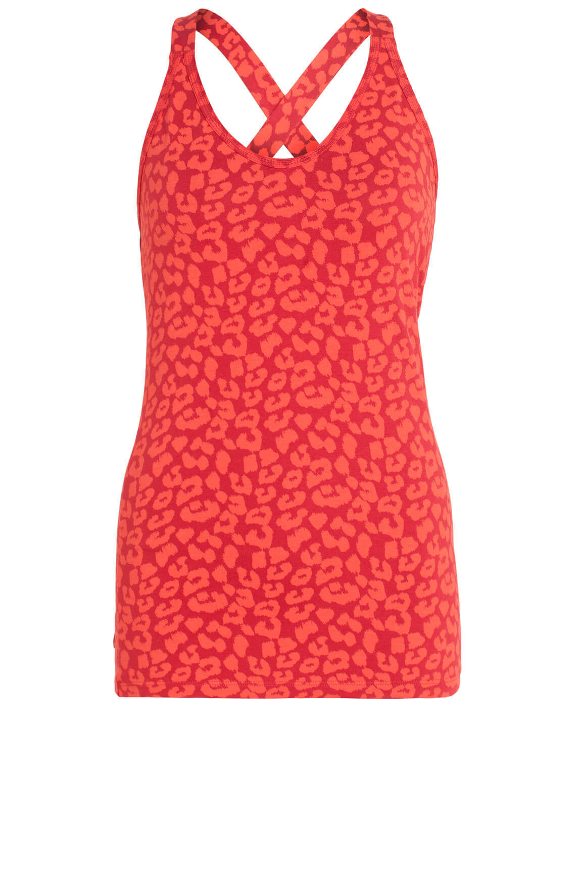 10 Days Dames Top met panterprint Rood