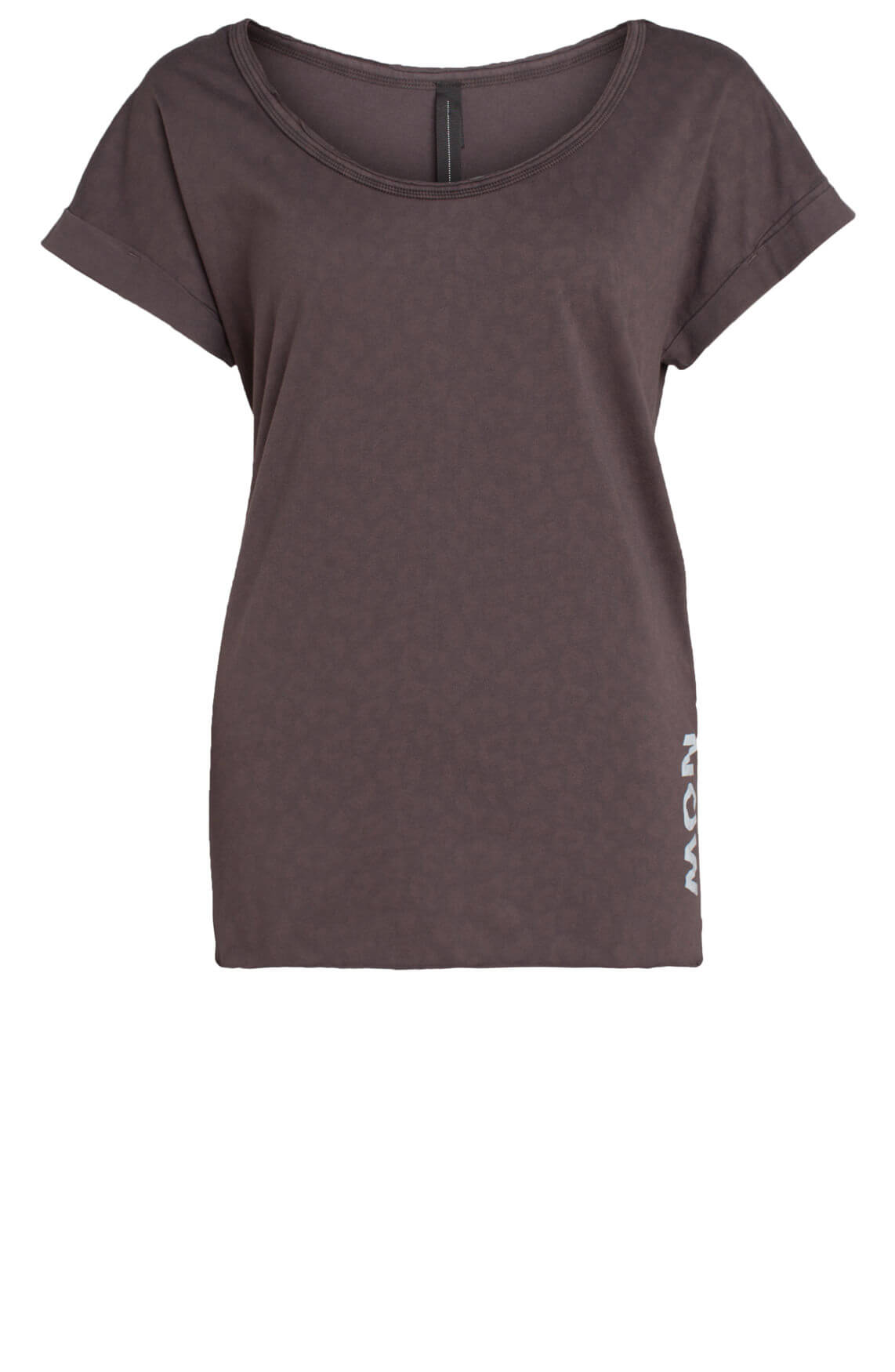 10 Days Dames Shirt met subtiele panterprint Grijs