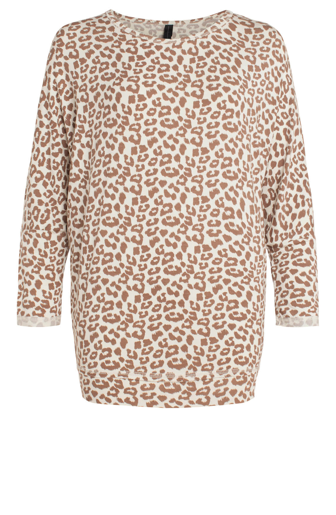 10 Days Dames Oversized shirt met panterprint Ecru